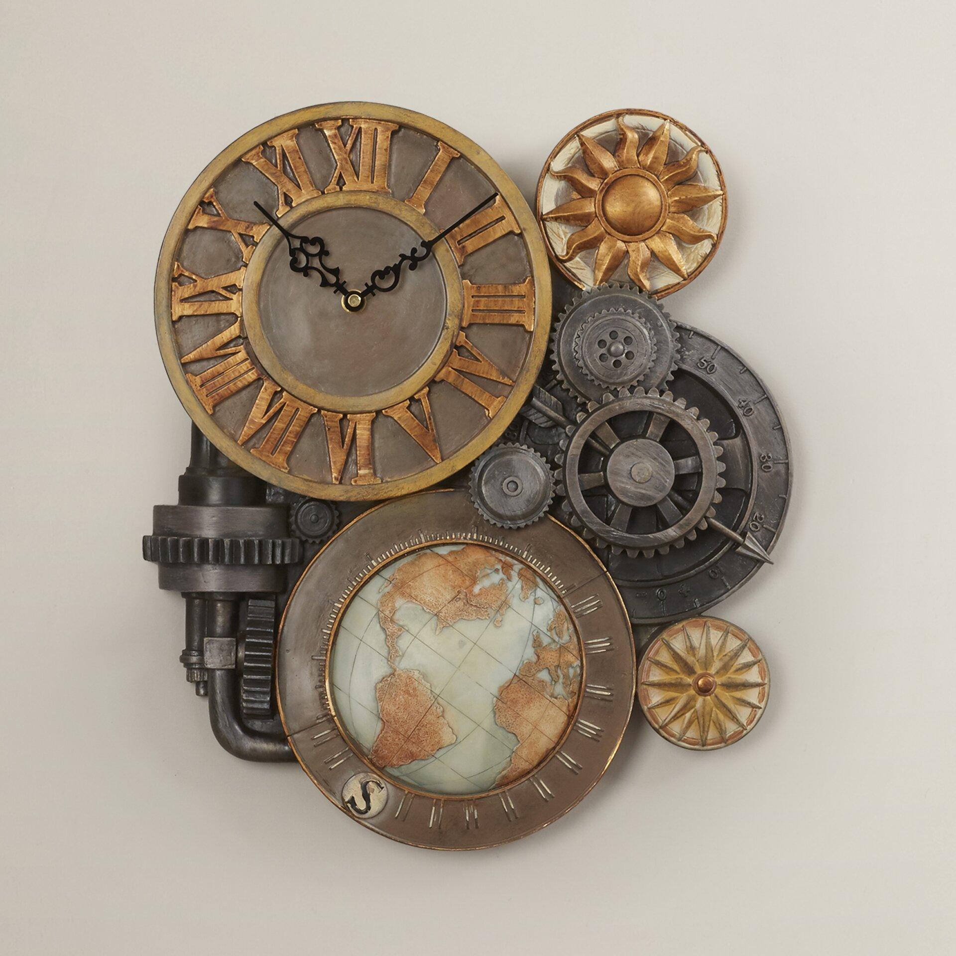 Trent Austin Design Oakland Gears Sculptural Wall Clock