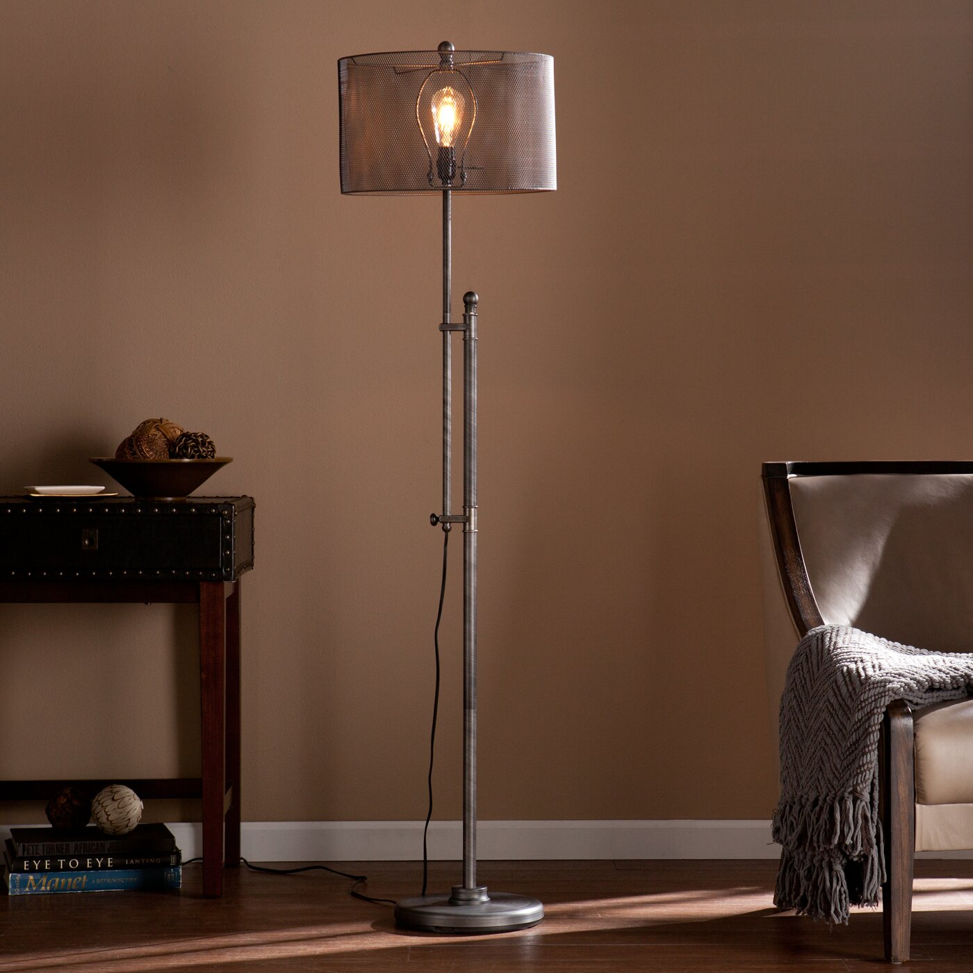 trent austin design germain 66 led floor lamp reviews wayfair. Black Bedroom Furniture Sets. Home Design Ideas