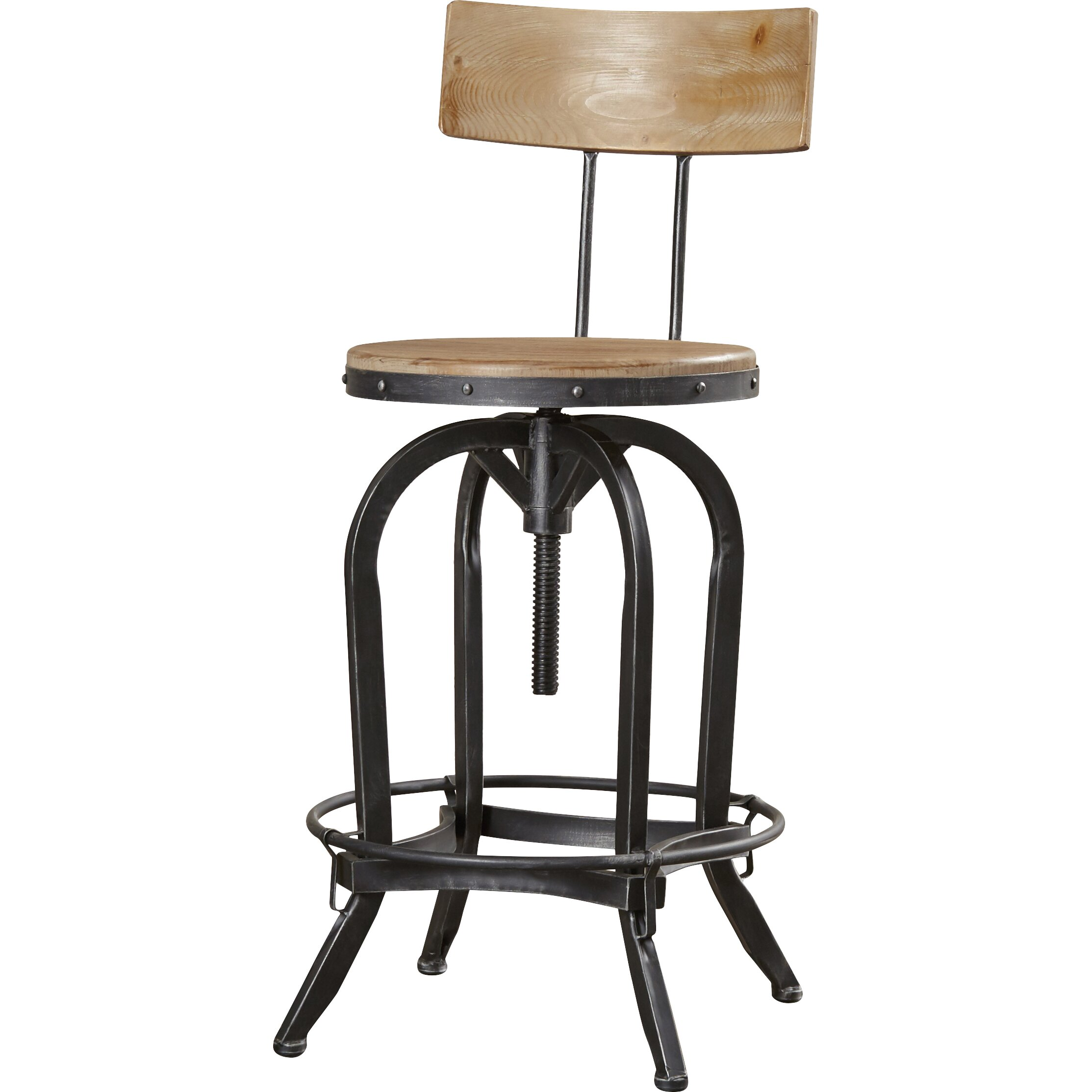 Trent Austin Design Oria Adjustable Height Swivel Bar Stool Reviews Wayfair