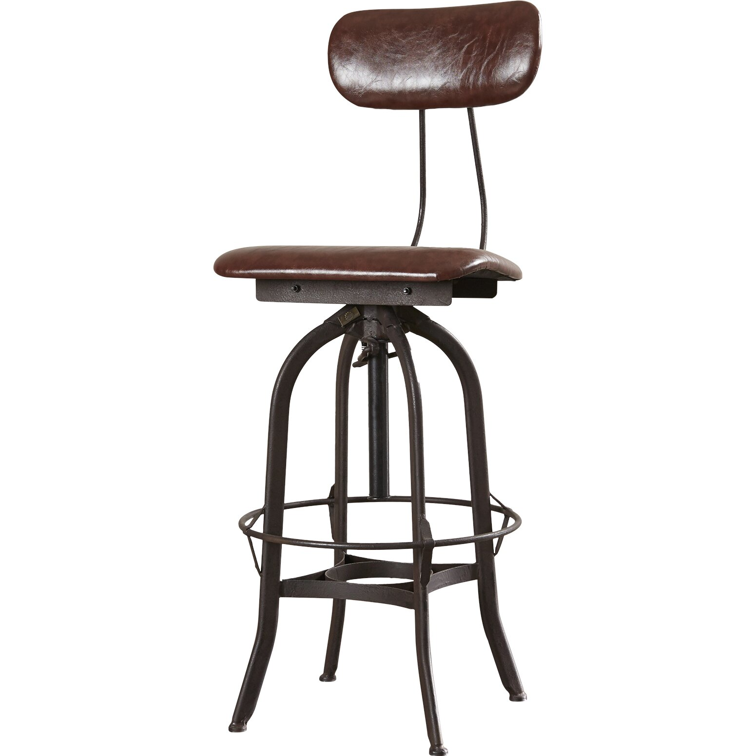 Trent austin design adjustable height swivel bar stool for Counter height swivel bar stools