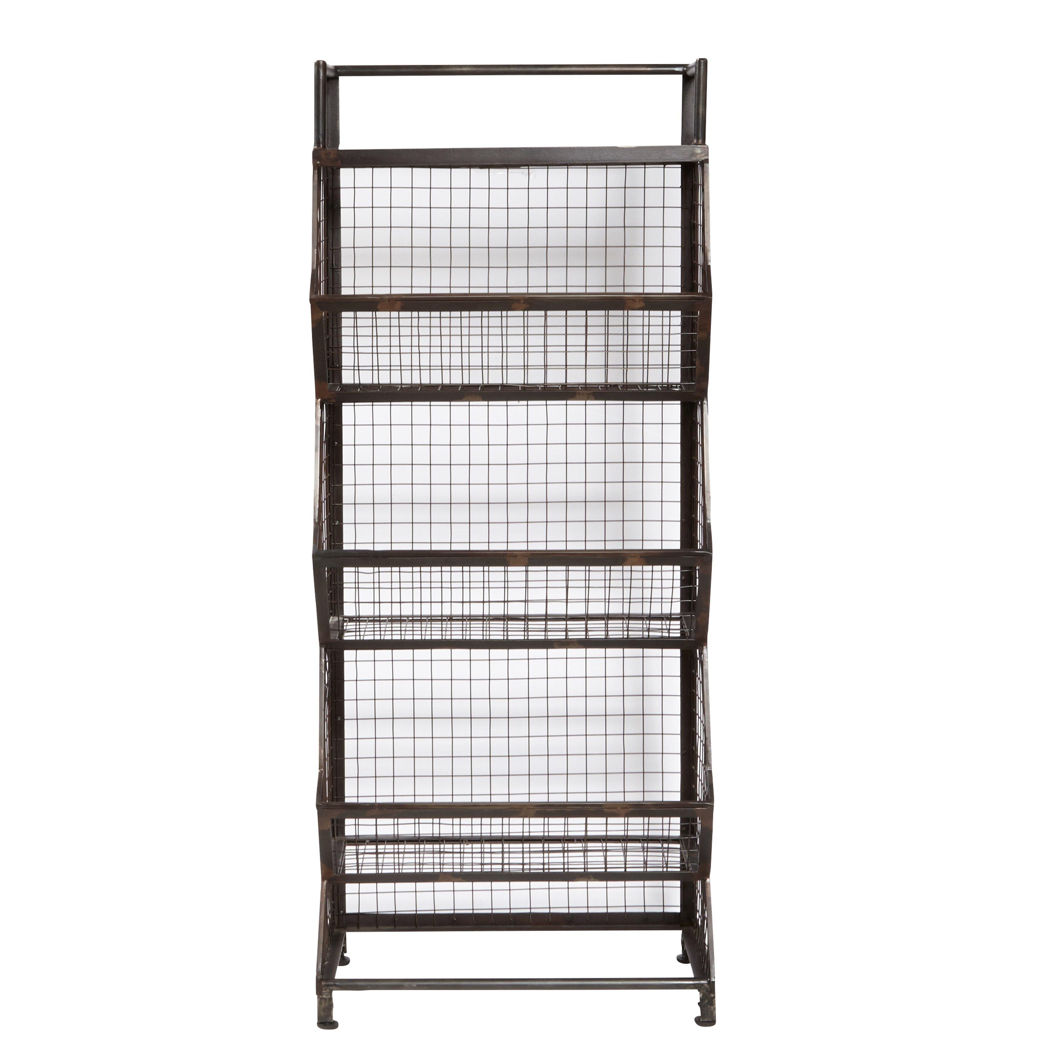 trent austin design pinehurst metal bin 54 etagere wayfair. Black Bedroom Furniture Sets. Home Design Ideas