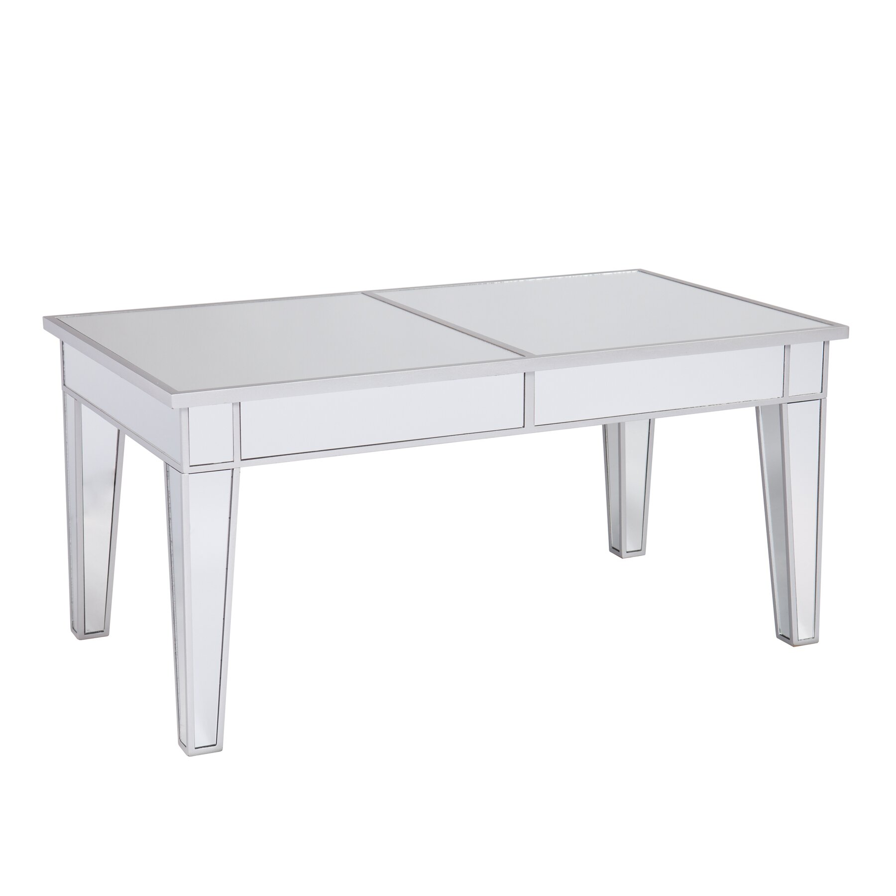 House Of Hampton Ghent Mirrored Coffee Table & Reviews