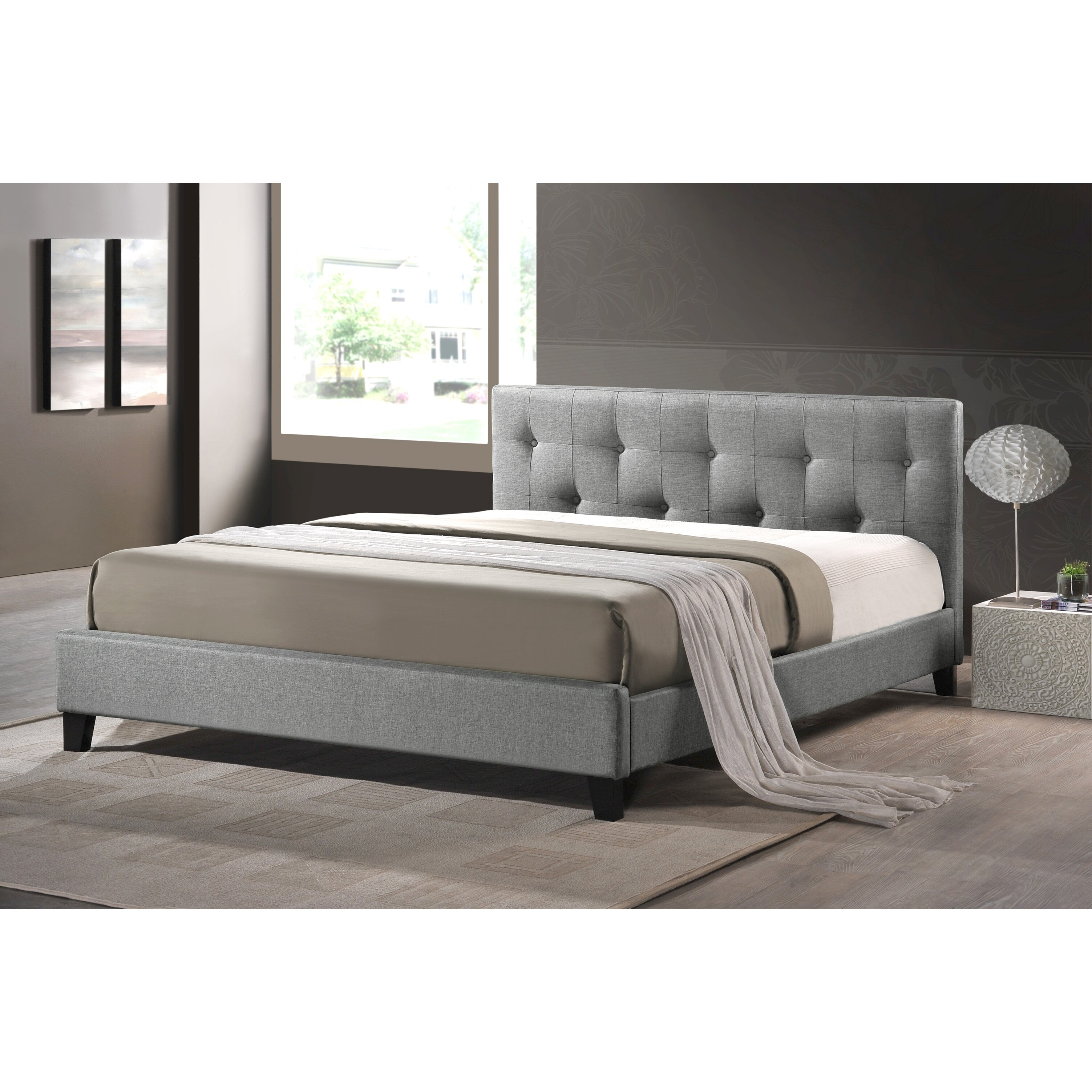 House of hampton blanchett upholstered platform bed for Upholstered beds