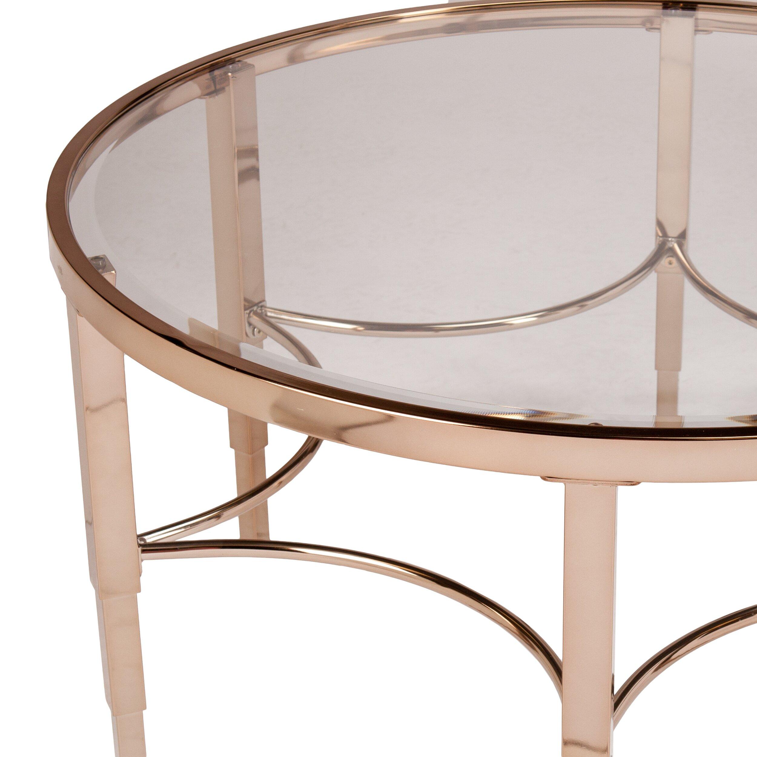 House Of Hampton Herione Metallic Gold Coffee Table Reviews Wayfair