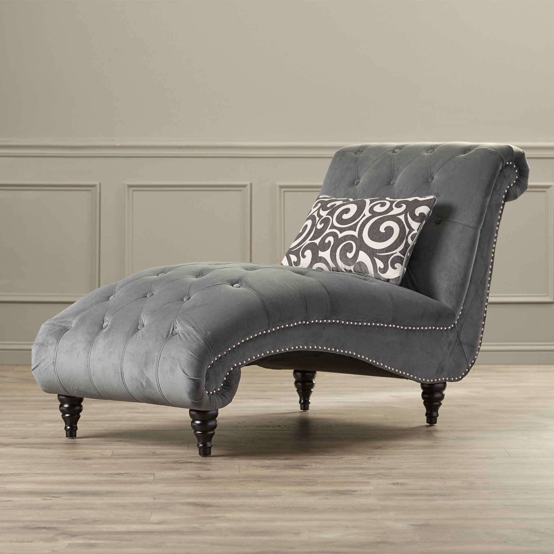House of hampton kirkby chaise lounge reviews wayfair for Chaise and lounge