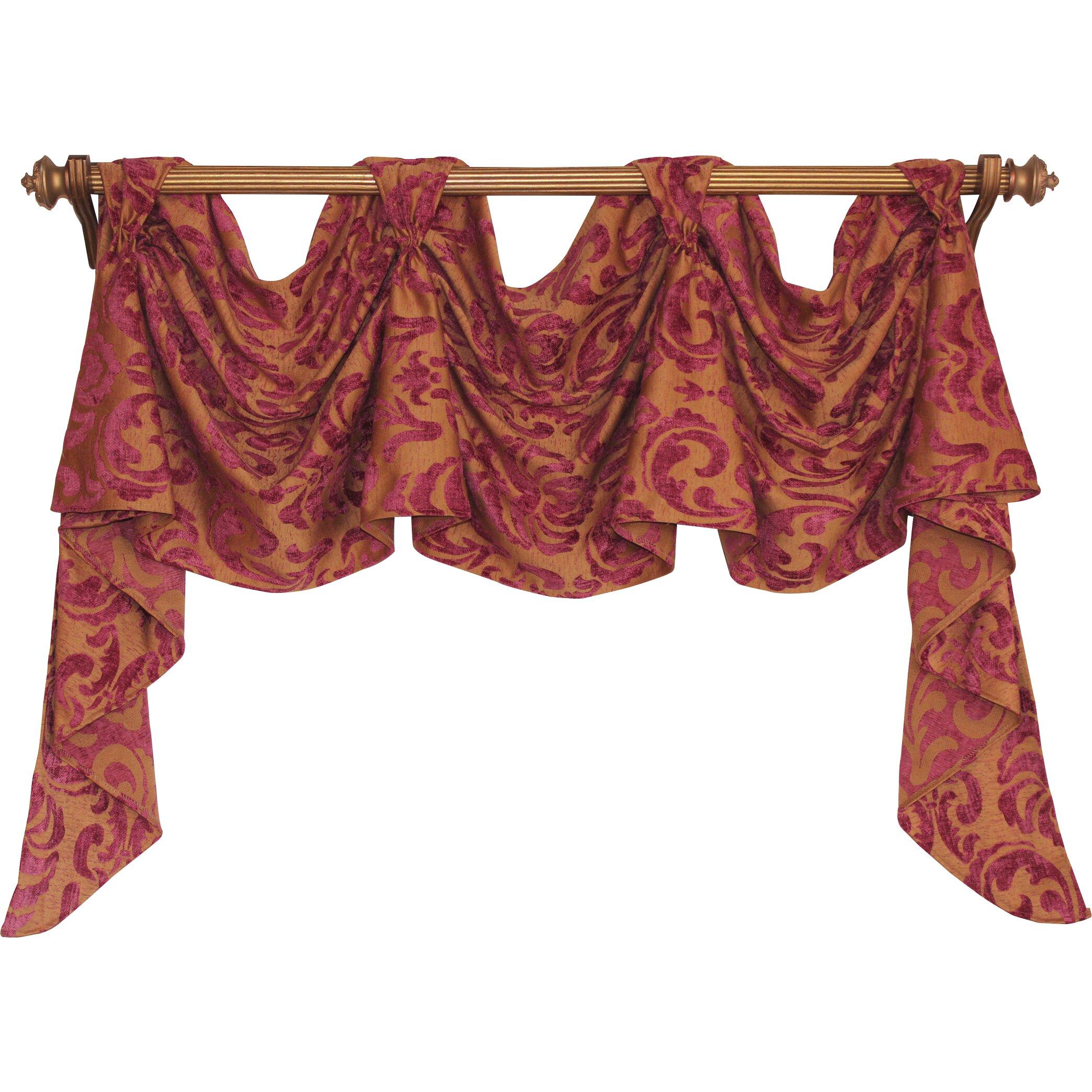 "House of Hampton Nailsworth Victory Swag 54"" Curtain ..."