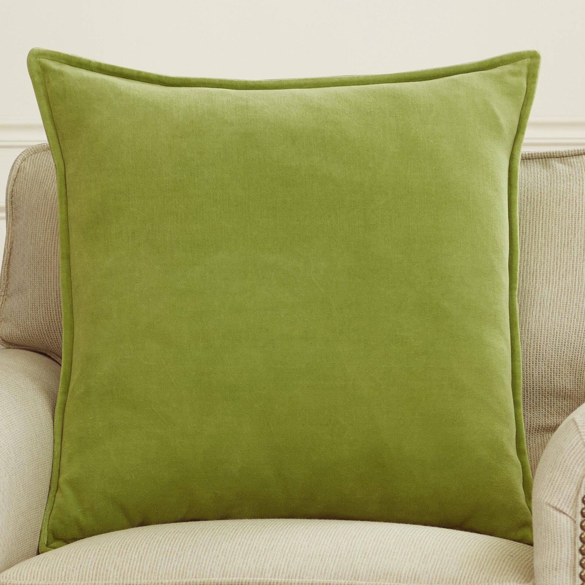 Cotton Velvet Decorative Pillows : House of Hampton Askern Smooth Velvet Cotton Throw Pillow & Reviews Wayfair