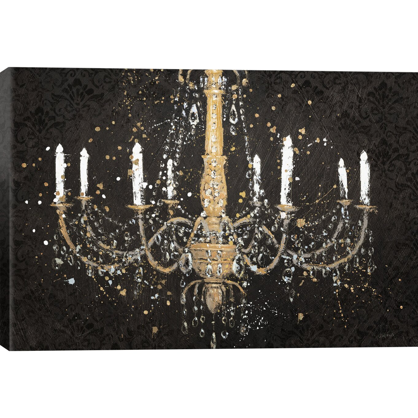 end round print ceiling gold images light luxury high chandelier