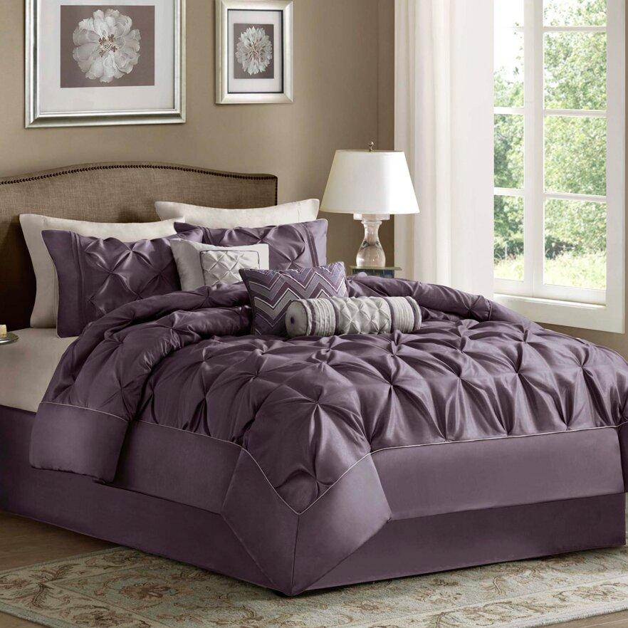 house of hampton ashton under lyne 7 piece reversible comforter set reviews wayfair. Black Bedroom Furniture Sets. Home Design Ideas