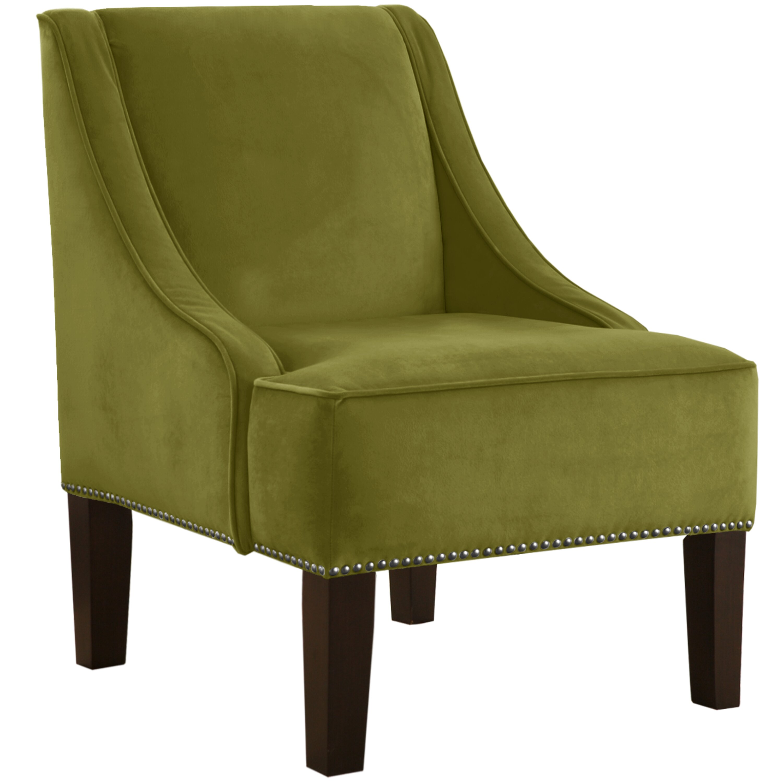 House of hampton velvet nail button swoop arm chair