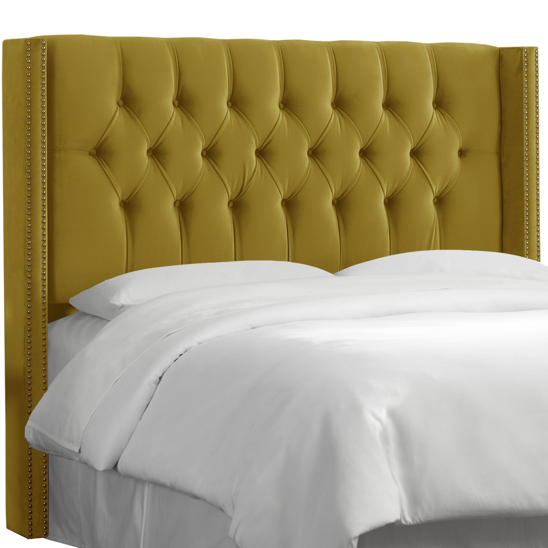 house of hampton diamond tufted wingback headboard. Black Bedroom Furniture Sets. Home Design Ideas