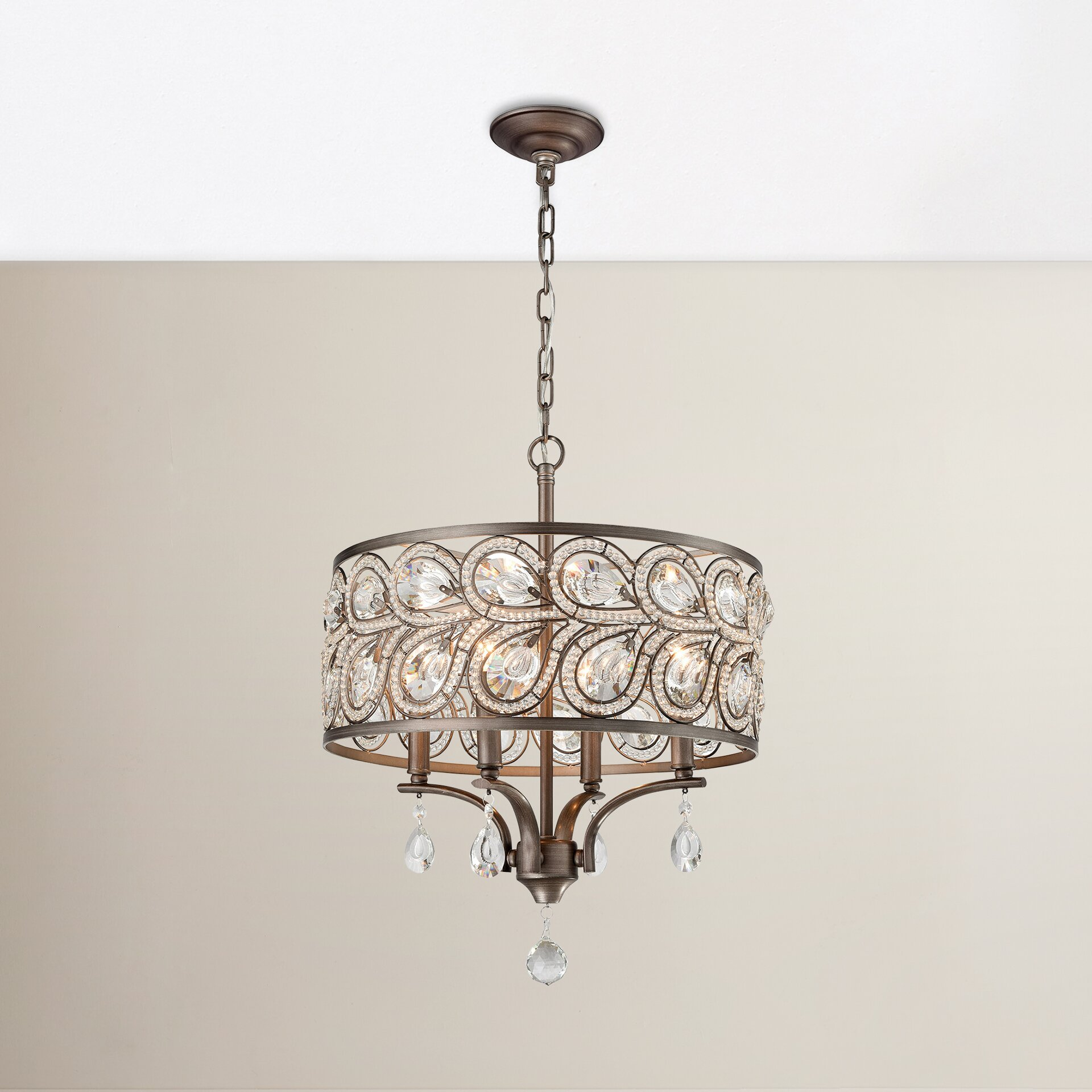 House of hampton norwich 4 light drum chandelier wayfair - Ceiling lights and chandeliers ...