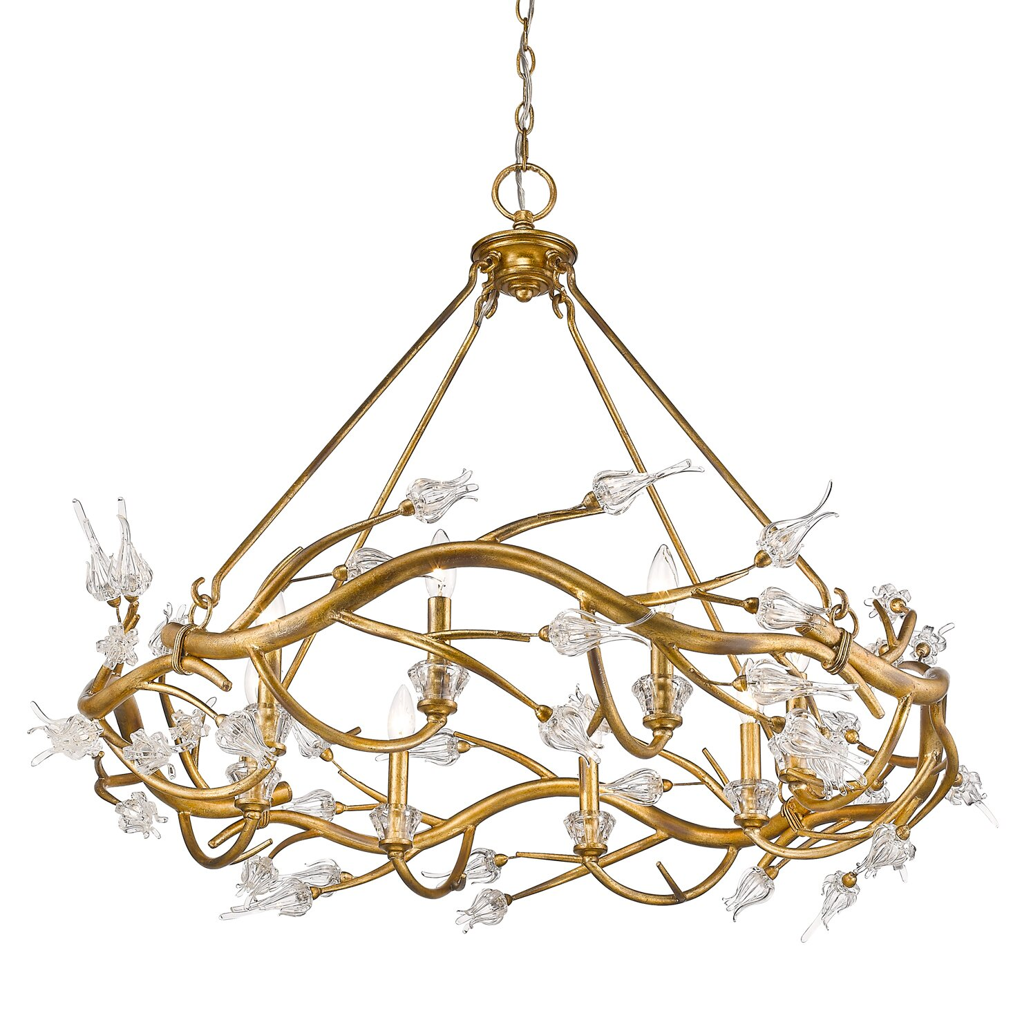 House of hampton rosmeer 6 light crystal chandelier for 6 light crystal chandelier