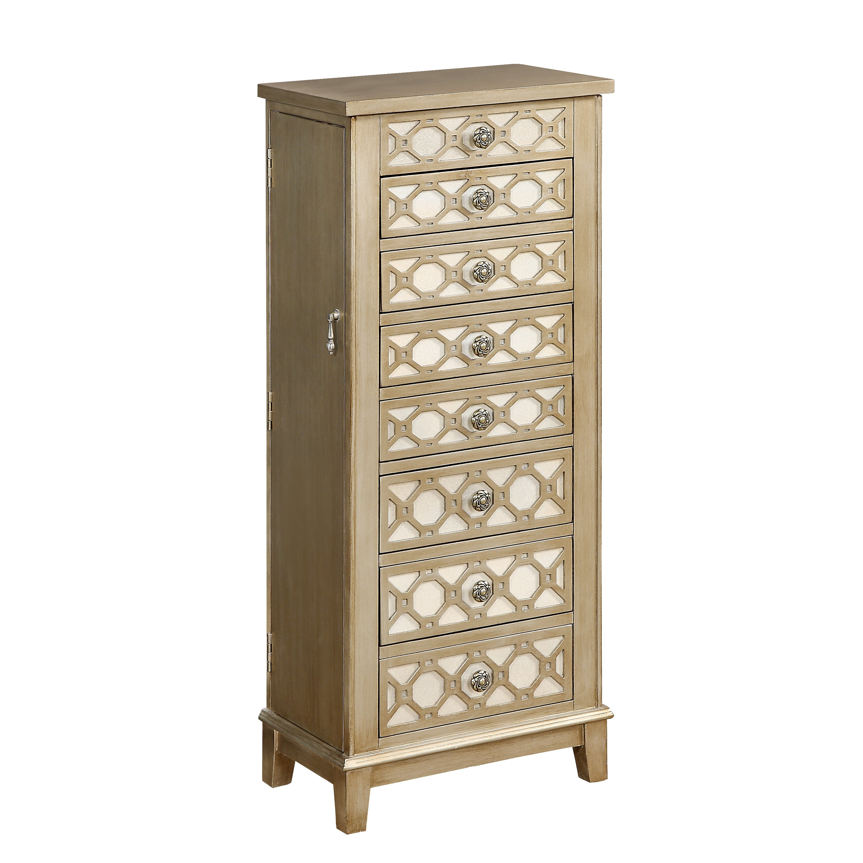 house of hampton banbury jewelry armoire with mirror wayfair. Black Bedroom Furniture Sets. Home Design Ideas
