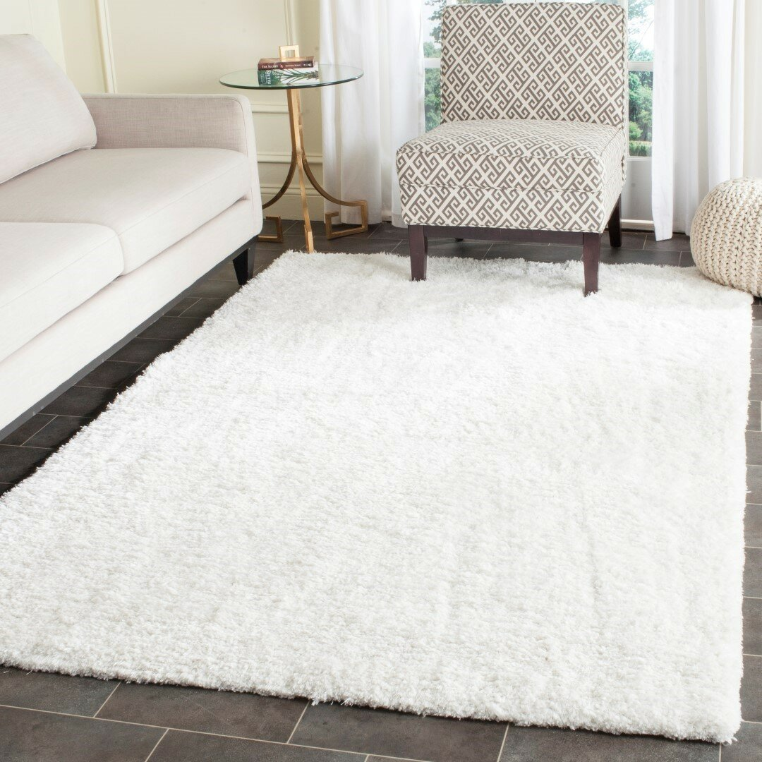 House of hampton lantremange hand tufted white area rug for White area rug