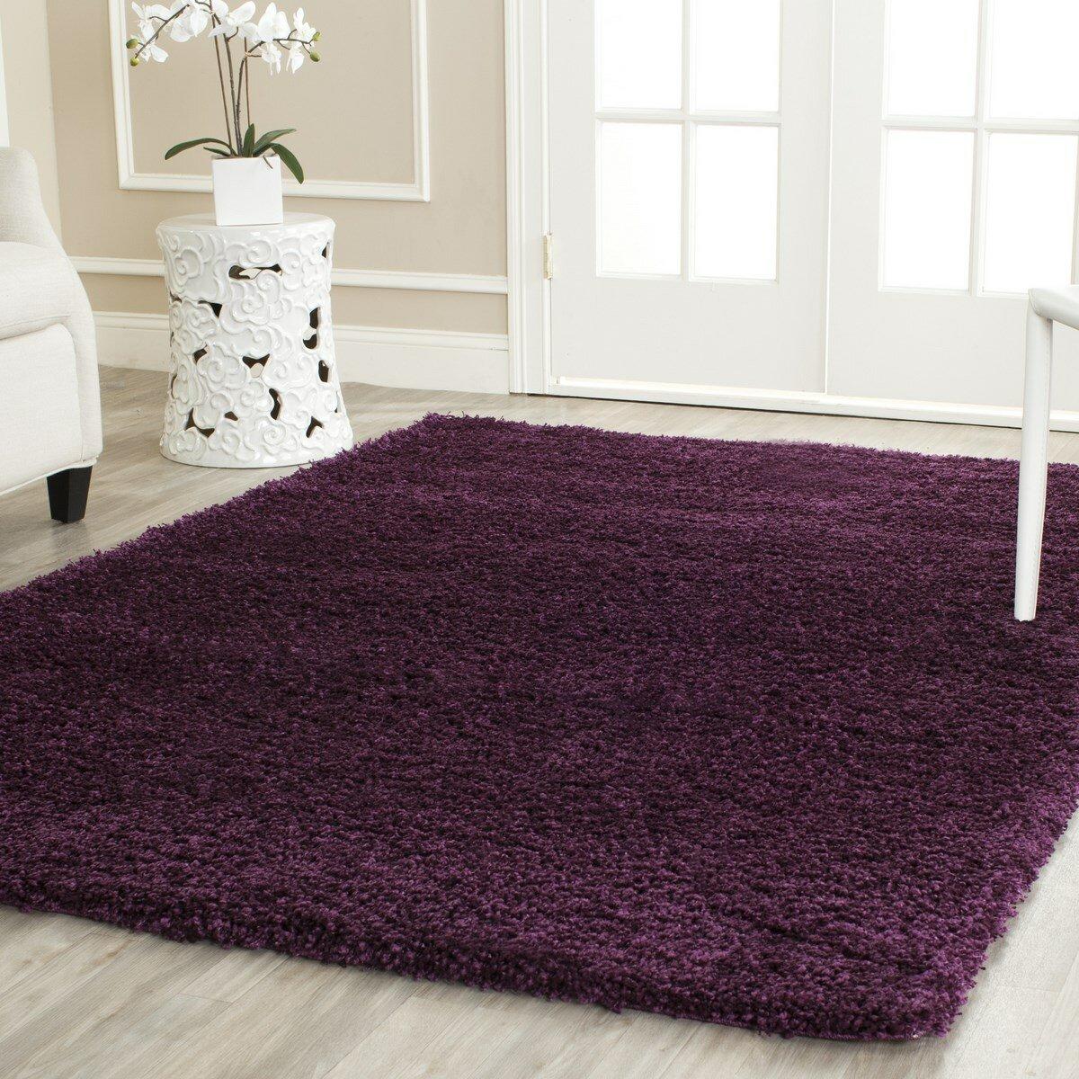House of Hampton Ampthill Shag Purple Area Rug & Reviews