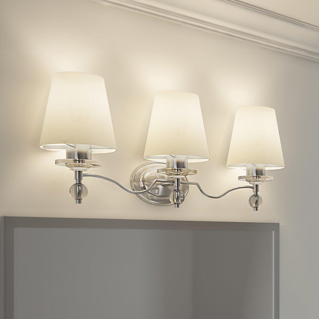 House Of Hampton Duke 3 Light Vanity Light Amp Reviews Wayfair