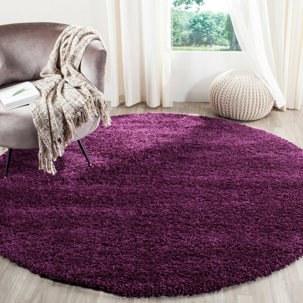 House Of Hampton Ampthill Shag Purple Area Rug & Reviews