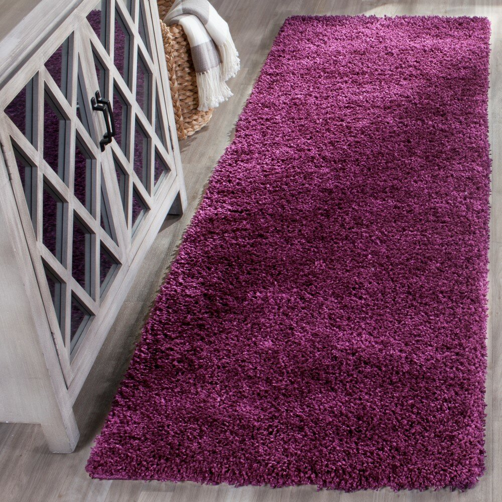 Purple Rug: House Of Hampton Ampthill Shag Purple Area Rug & Reviews
