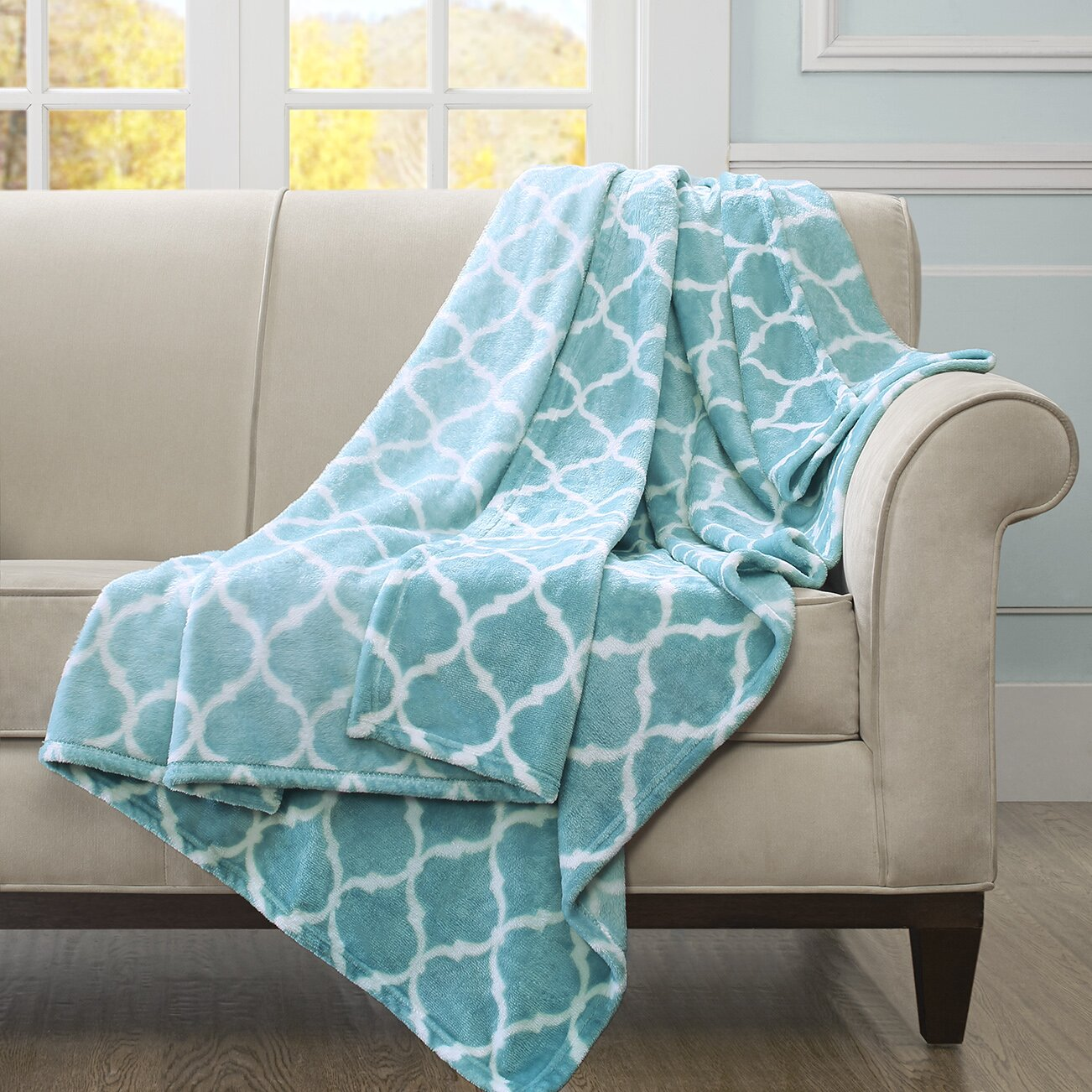 House of Hampton Rosalie Oversized Throw Blanket & Reviews ...