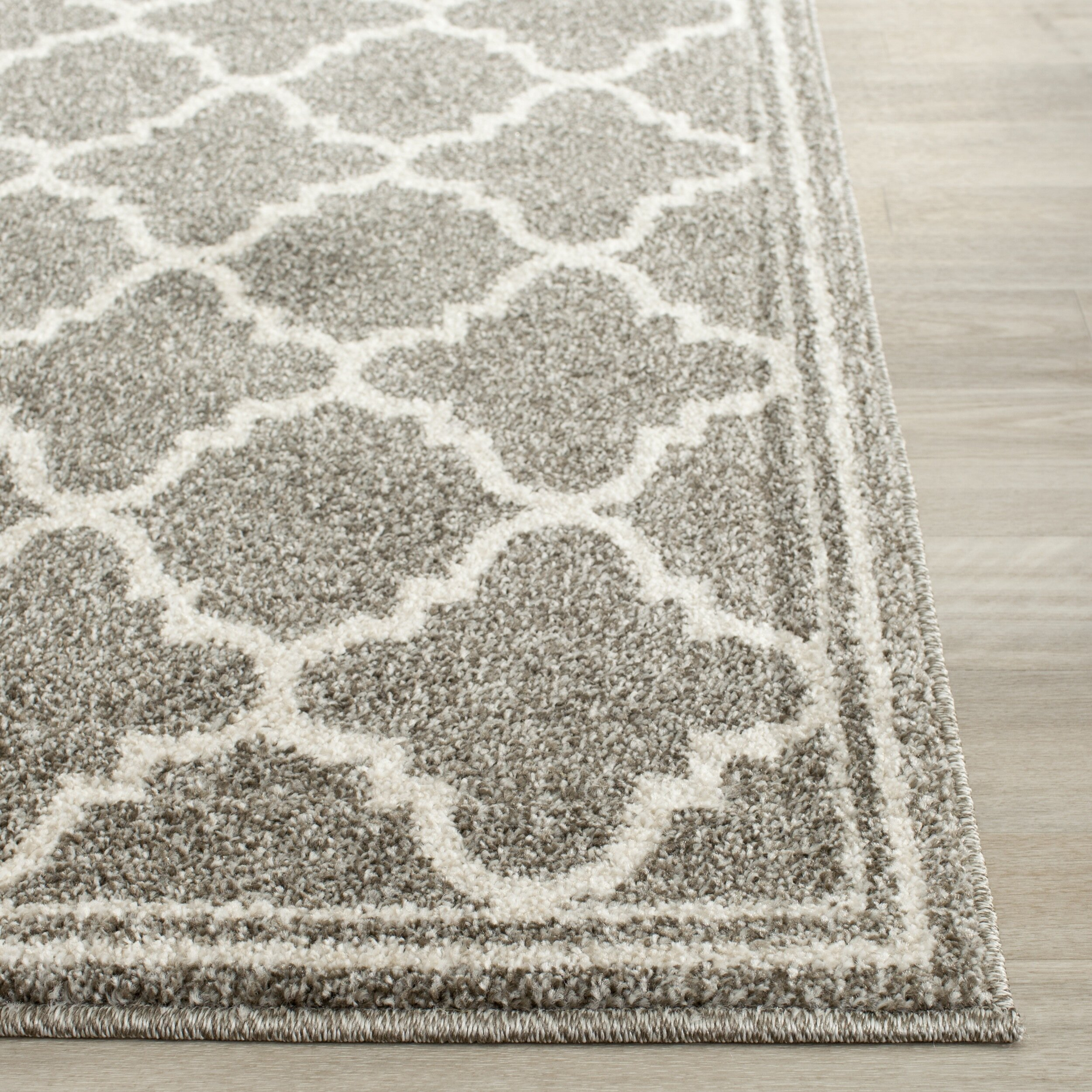 House of hampton levon dark grey beige area rug reviews for Grey and tan rug