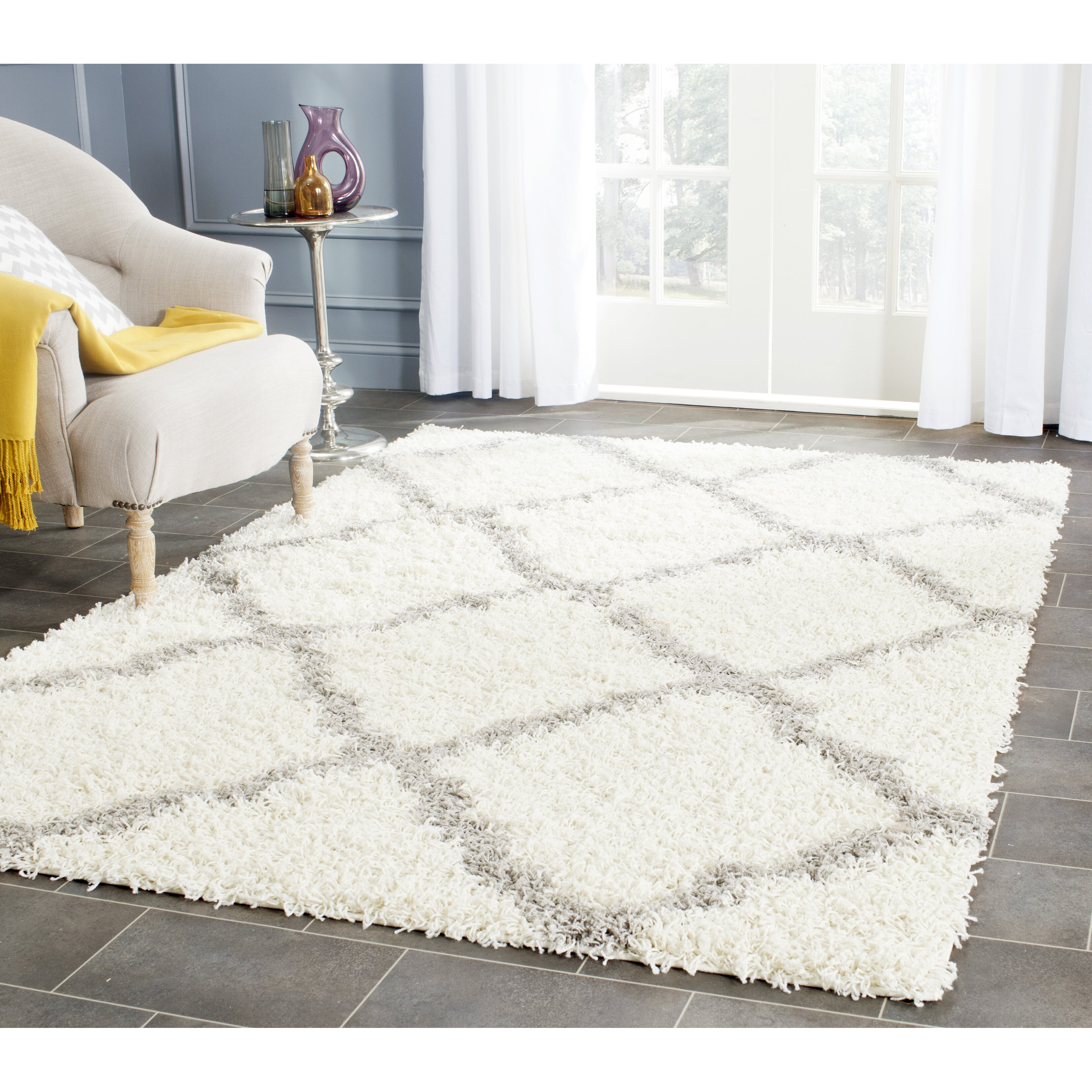 House Of Hampton Alice Ivory Amp Gray Area Rug Amp Reviews