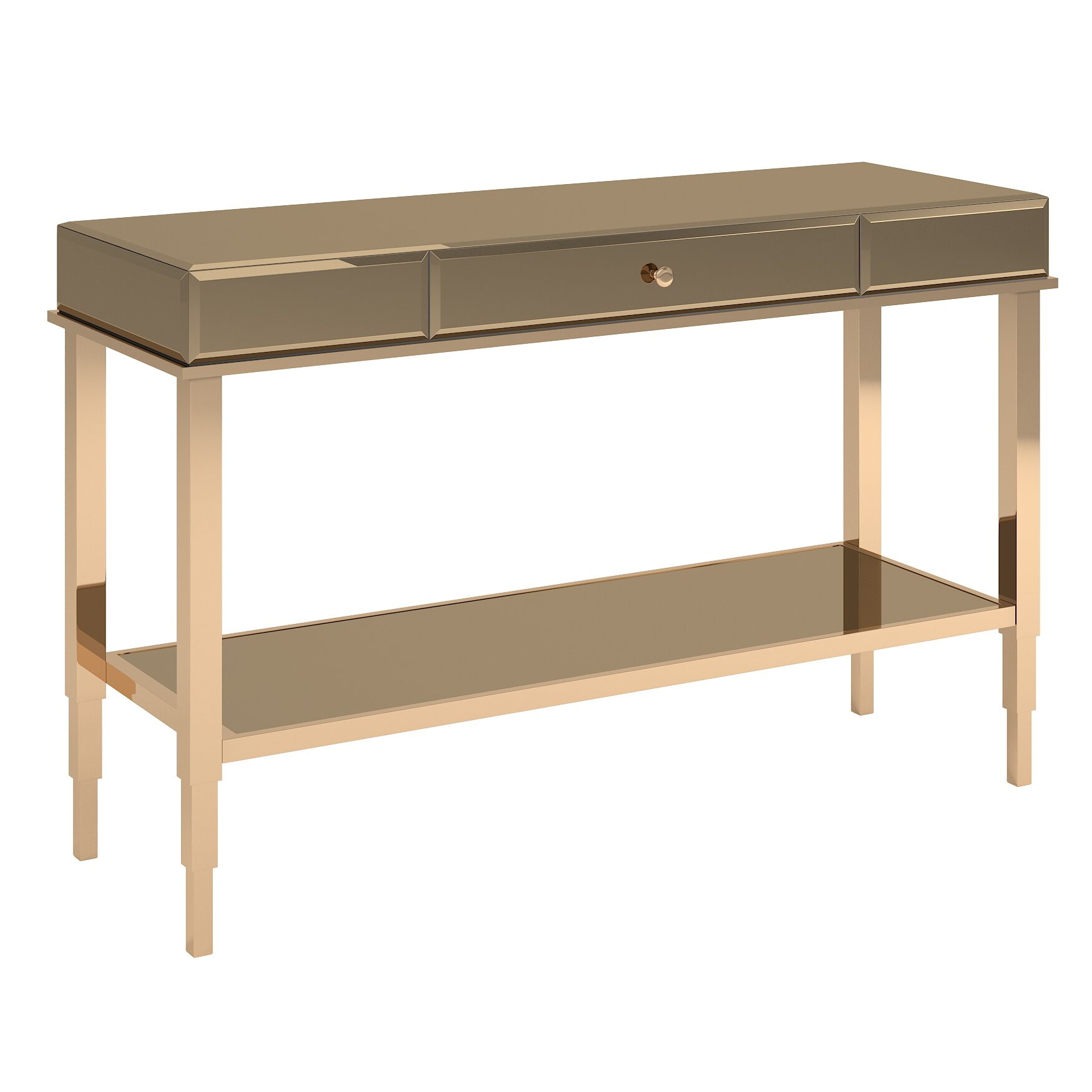 House Of Hampton Banford Mirrored Console Table Wayfair