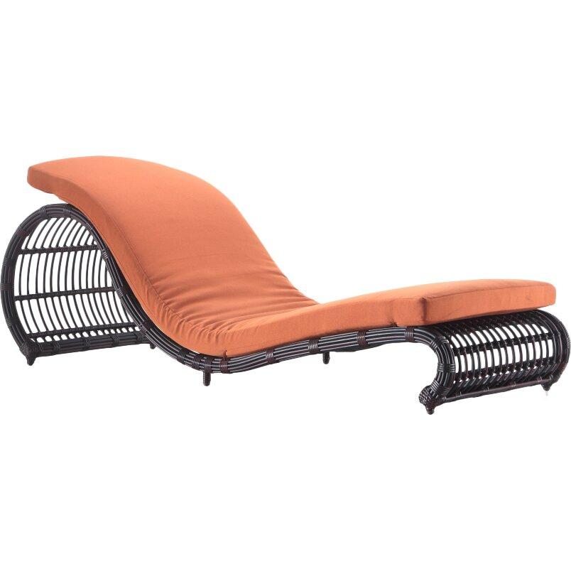Ceets onda chaise lounge with cushion wayfair for Buy chaise lounge cushion