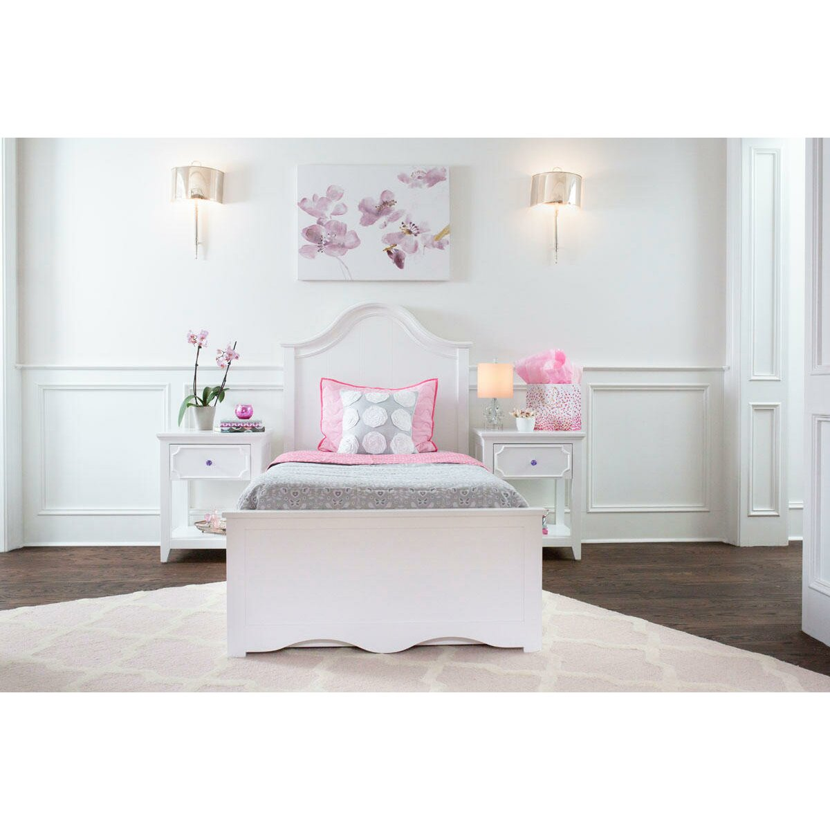 Craft kids furniture charleston twin panel bed with for Kids craft bed