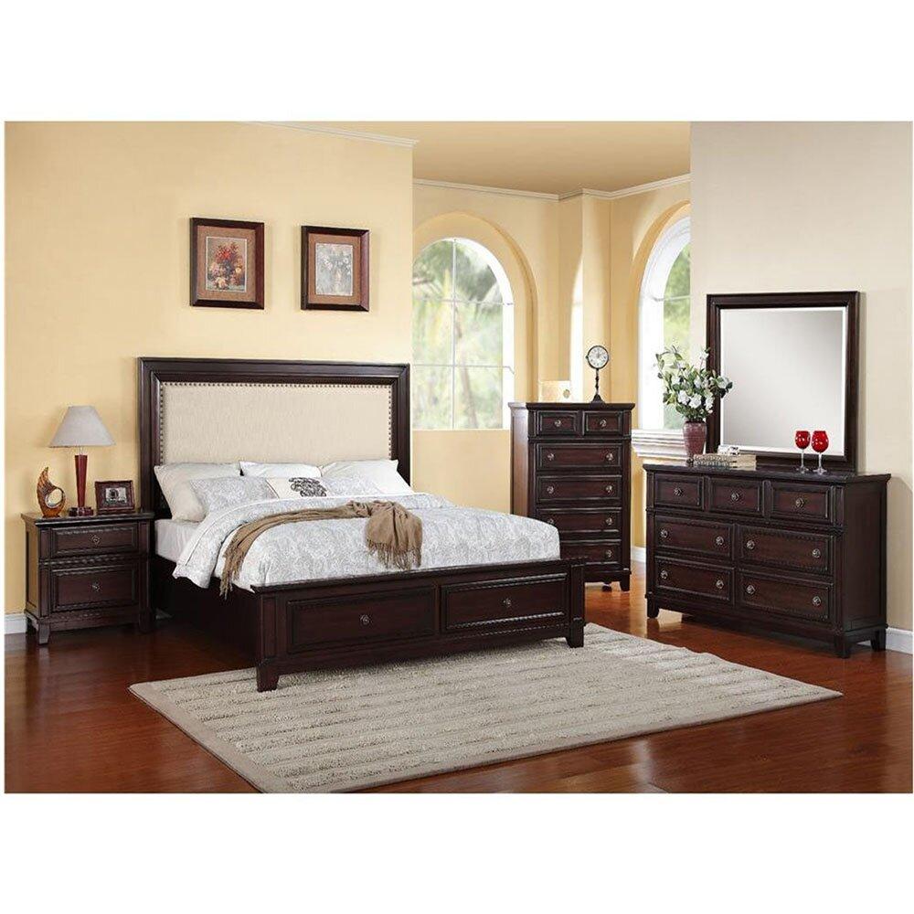 cambridge willow storage panel 5 piece bedroom set wayfair