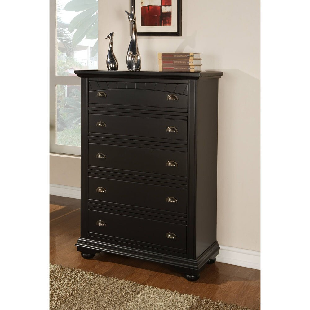 cambridge hyde park 5 drawer media chest wayfair. Black Bedroom Furniture Sets. Home Design Ideas