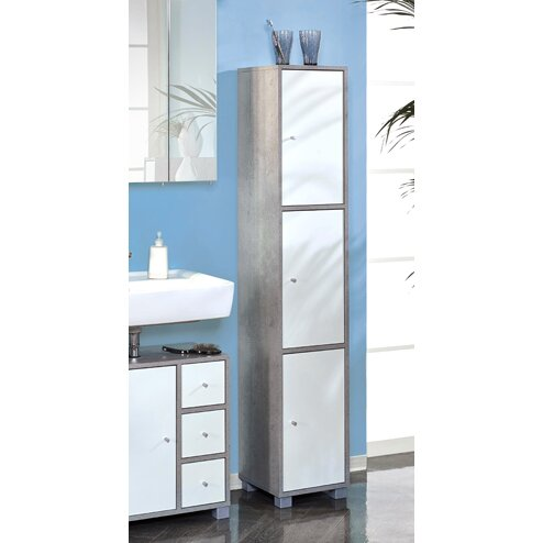 31 x 167cm free standing tall bathroom cabinet reviews wayfair uk