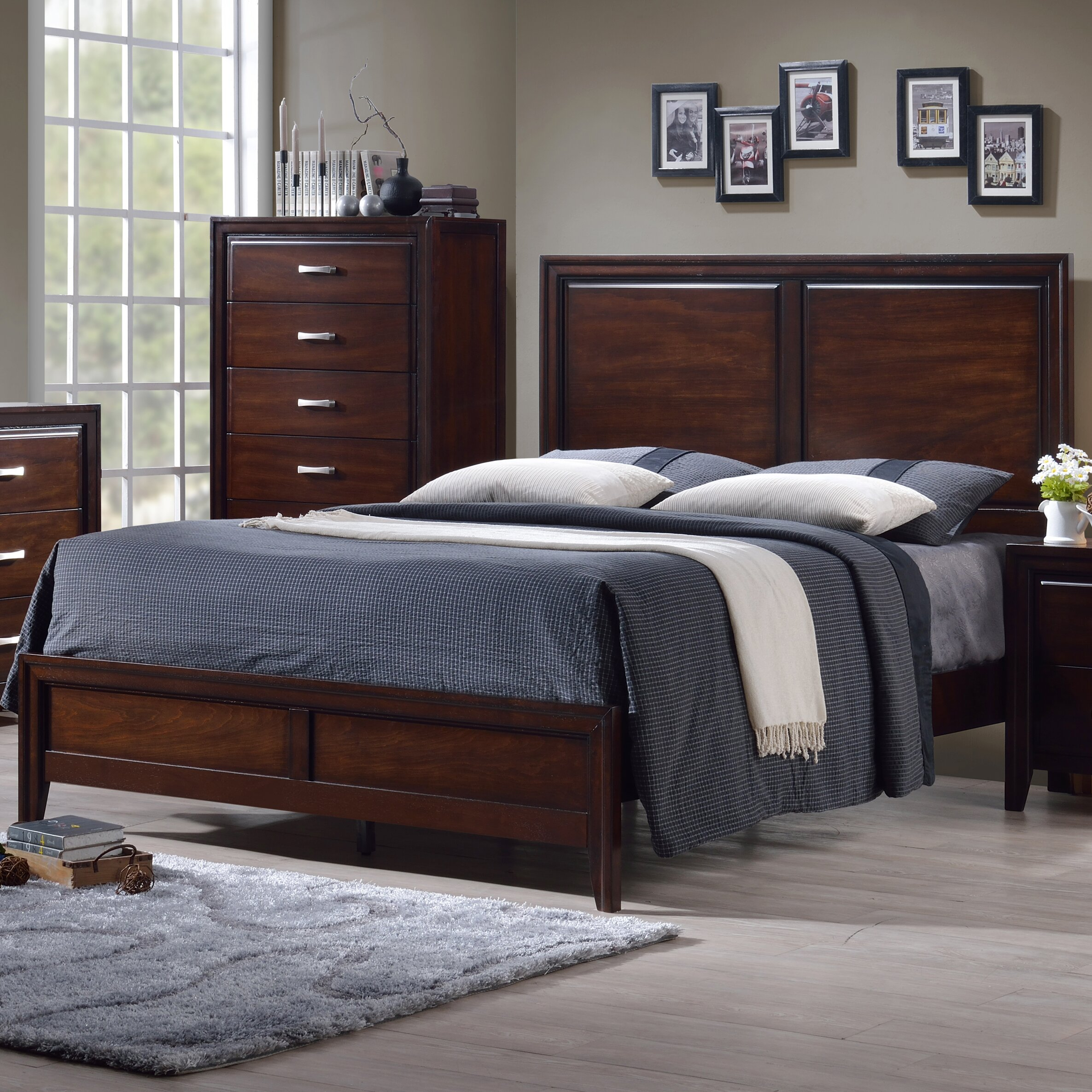 alcott hill barwood panel bed by simmons casegoods