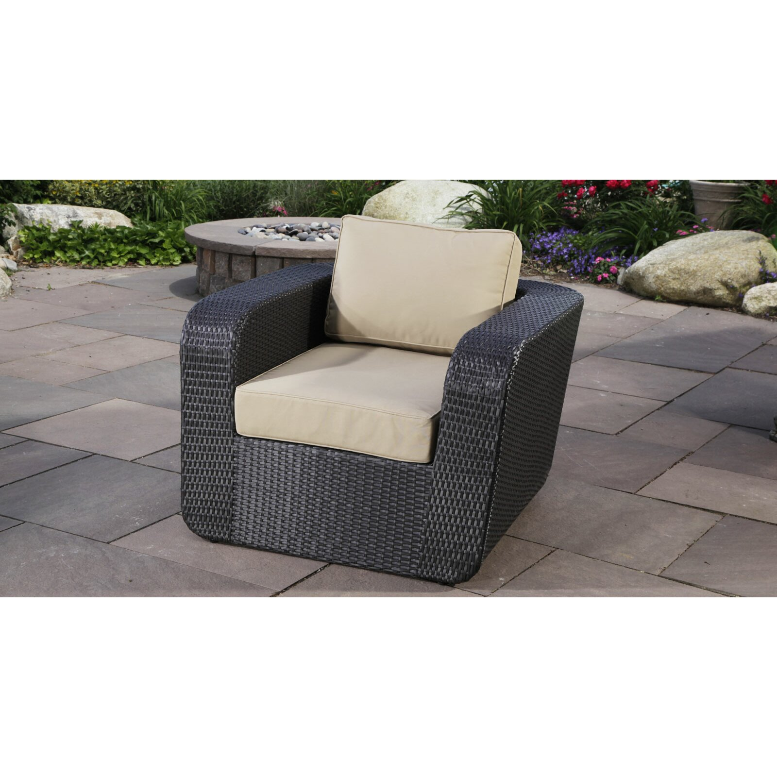 Madbury road malta club chair with cushions reviews for Outdoor furniture malta