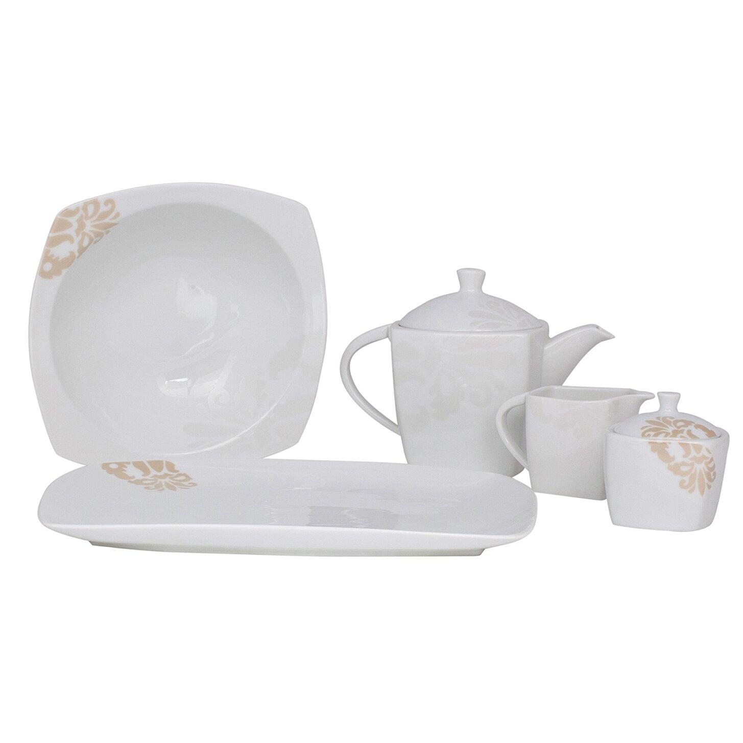 Shinepukur Ceramics USA Inc Bloomfield Square Fine China Traditional Servin