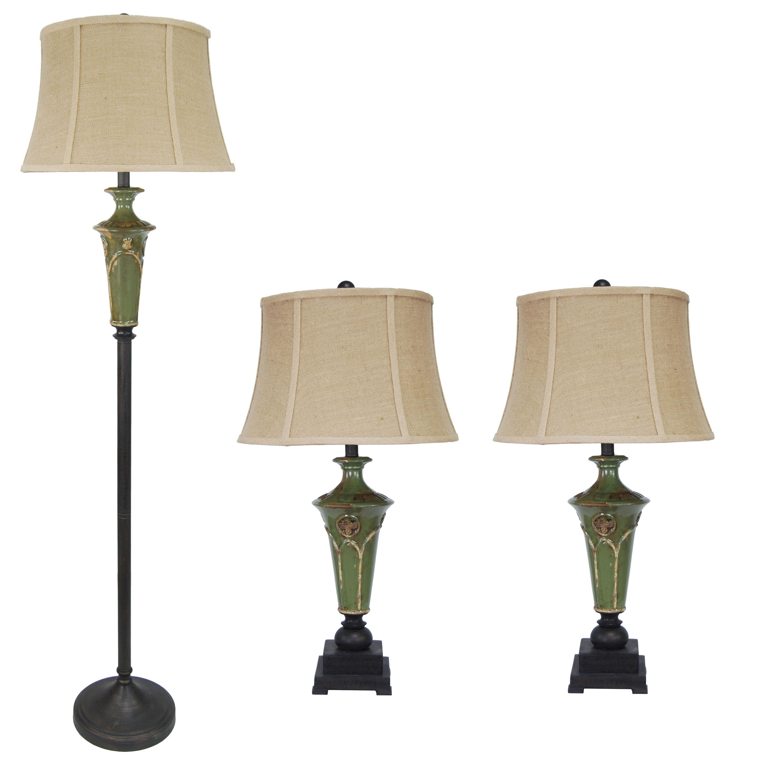 Lowes Brushed Nickel Table Lamps Allen Roth Woodbine 60