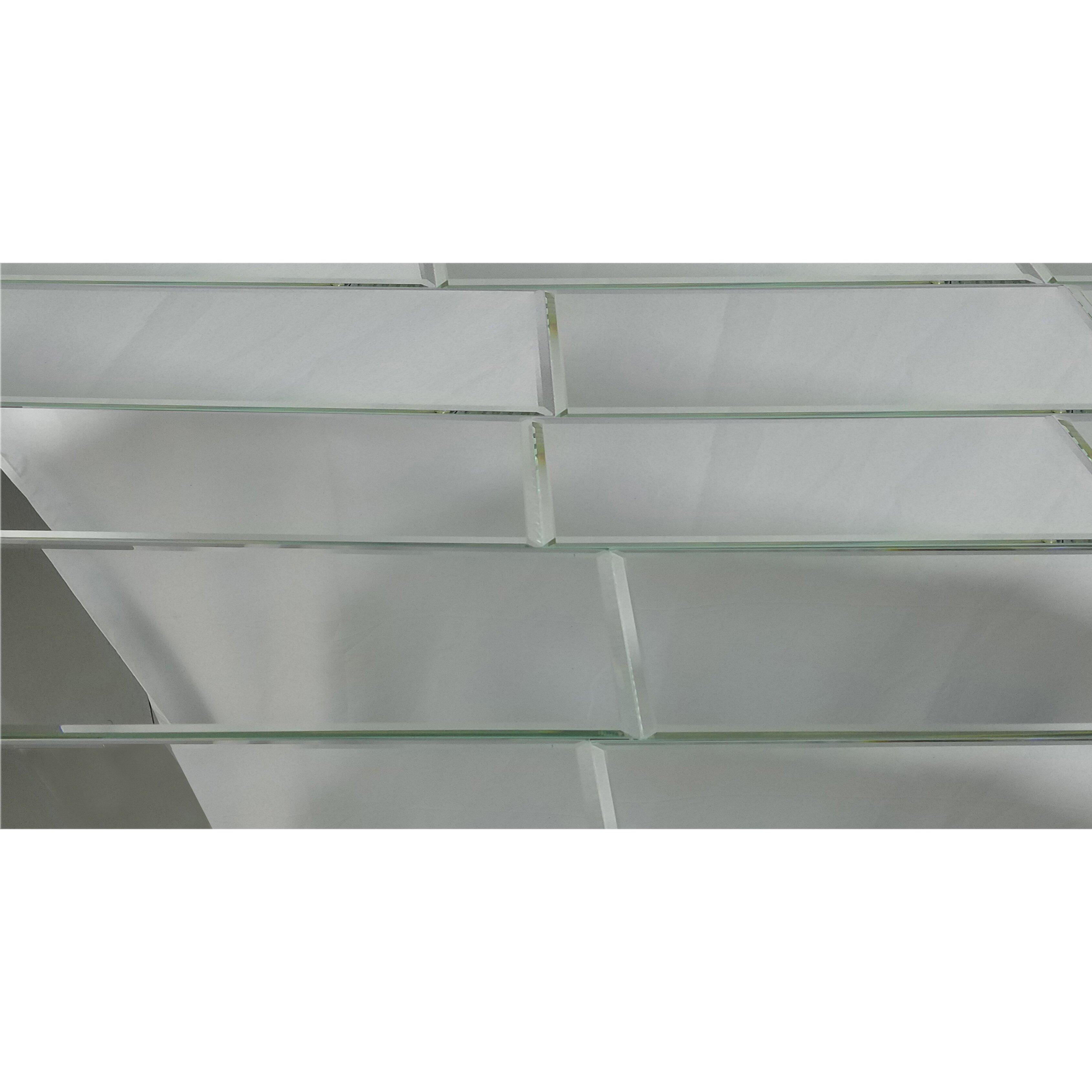 Abolos Echo 12 X 24 Mirror Glass Field Tile In Silver