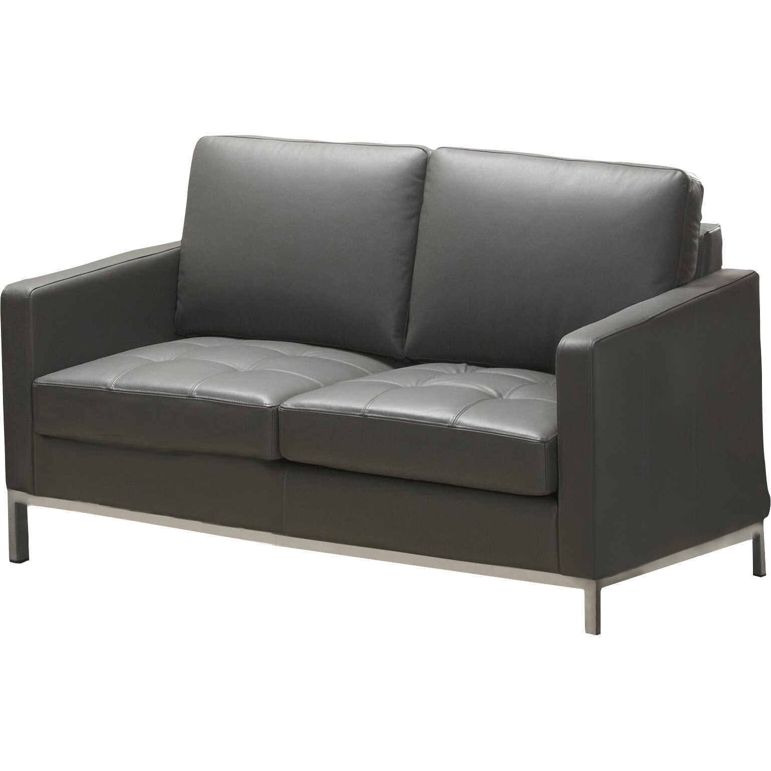 Lind Furniture Regency Top Grain Leather Loveseat Reviews