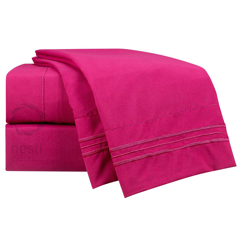 nestl bedding 1800 thread count finch bed sheet set reviews wayfair. Black Bedroom Furniture Sets. Home Design Ideas