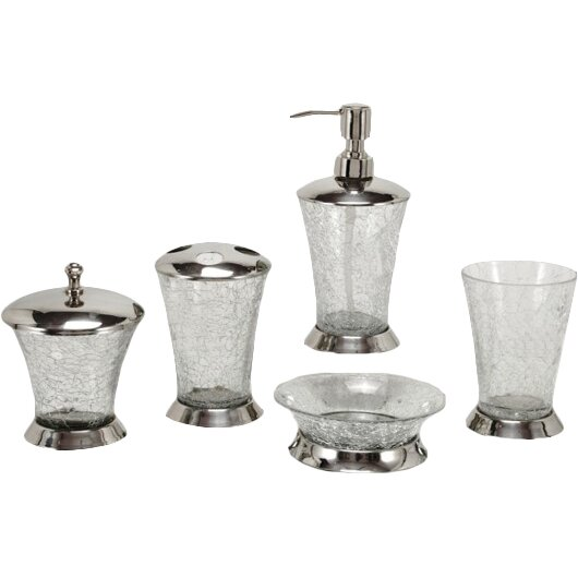 Fashion home classic 5 piece bathroom accessory set for Bathroom 5 piece set