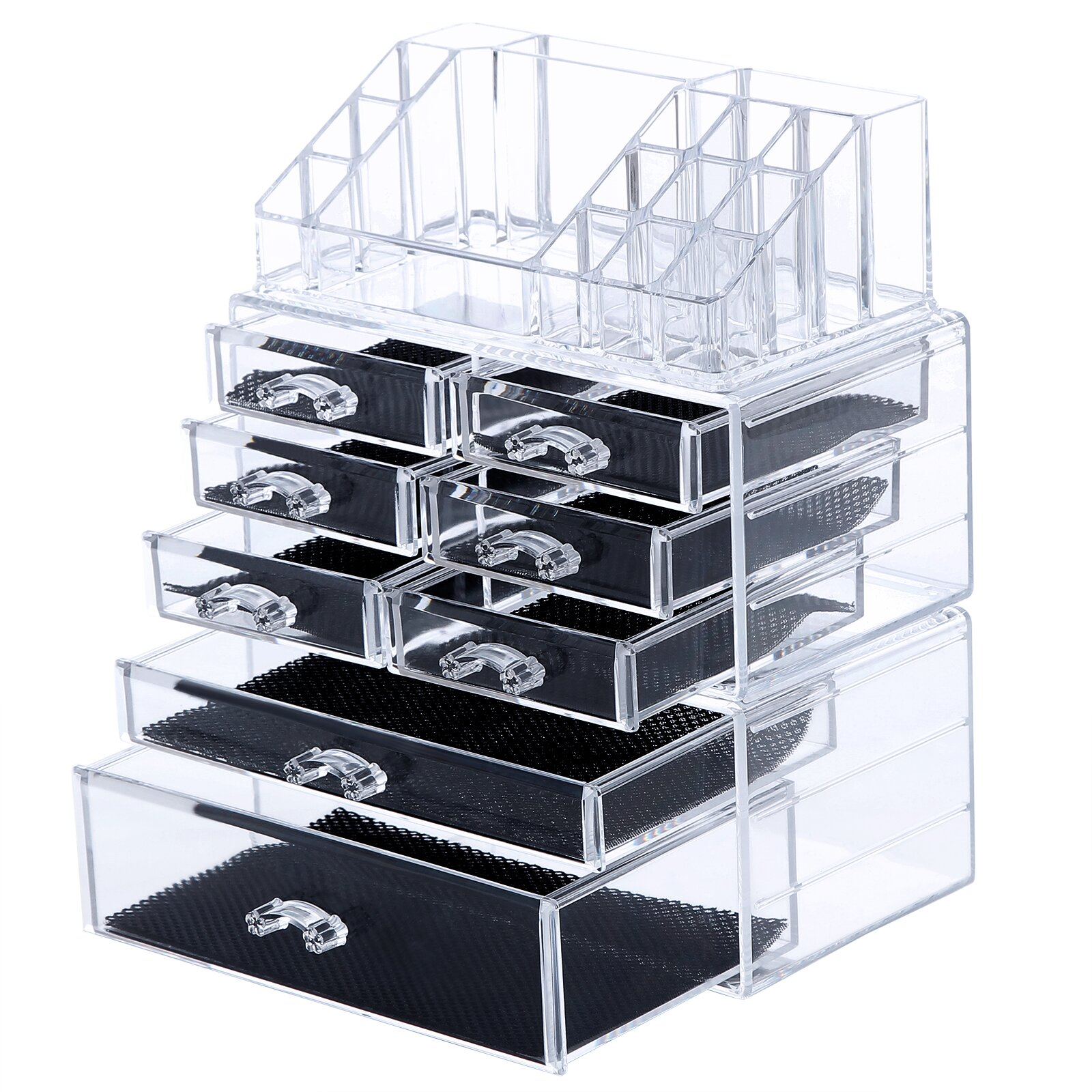 songmics 8 drawer makeup organizer cosmetic storage box. Black Bedroom Furniture Sets. Home Design Ideas