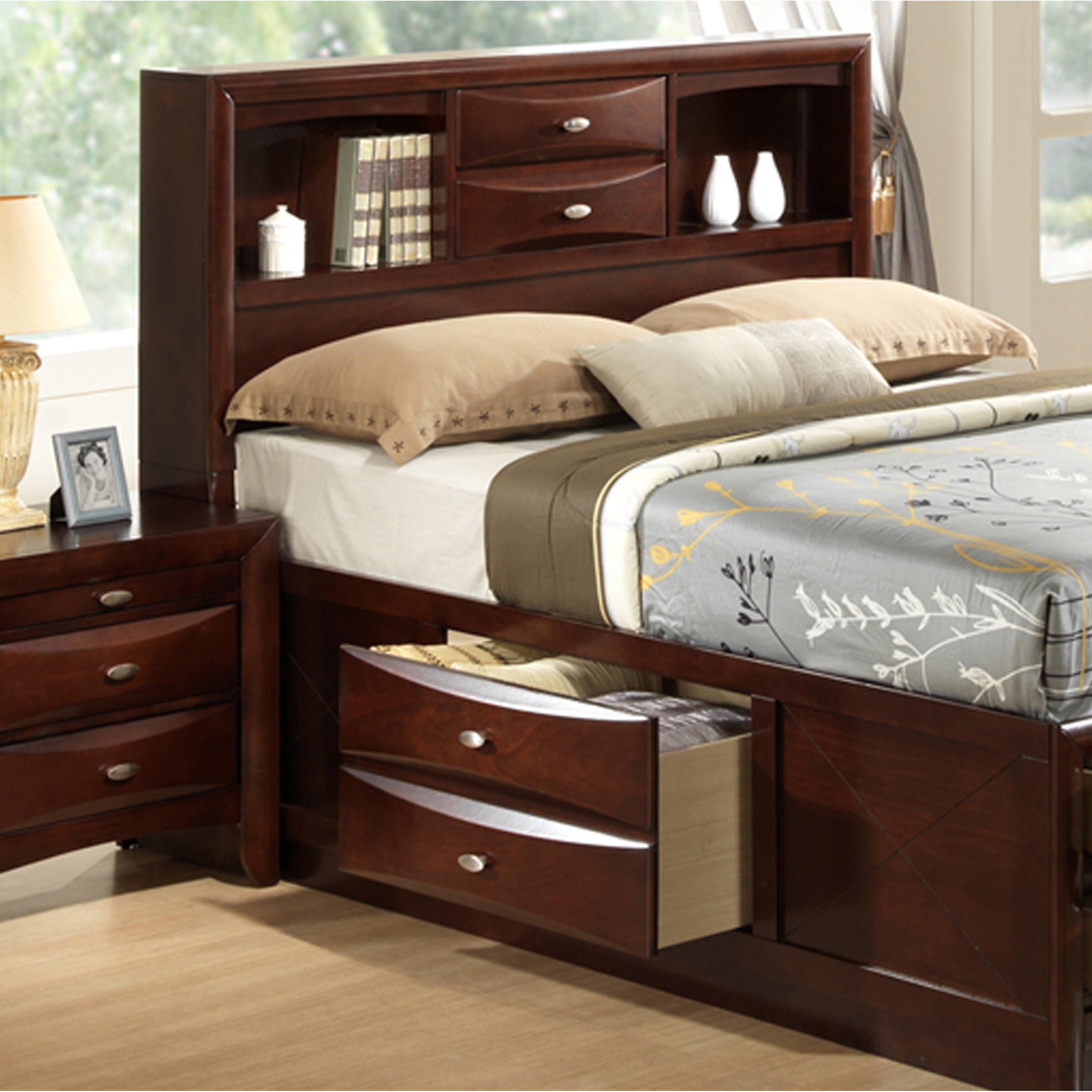 Roundhill Furniture Emily Storage 5 Piece Bedroom Set Wayfair
