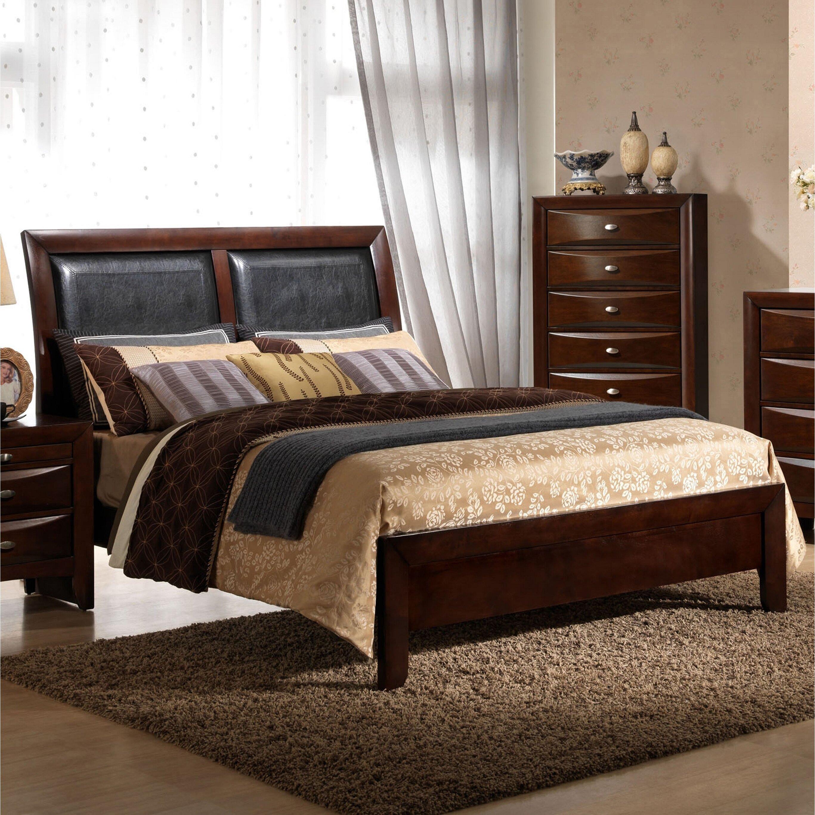 Roundhill Furniture Emily Panel 5 Piece Bedroom Set Wayfair