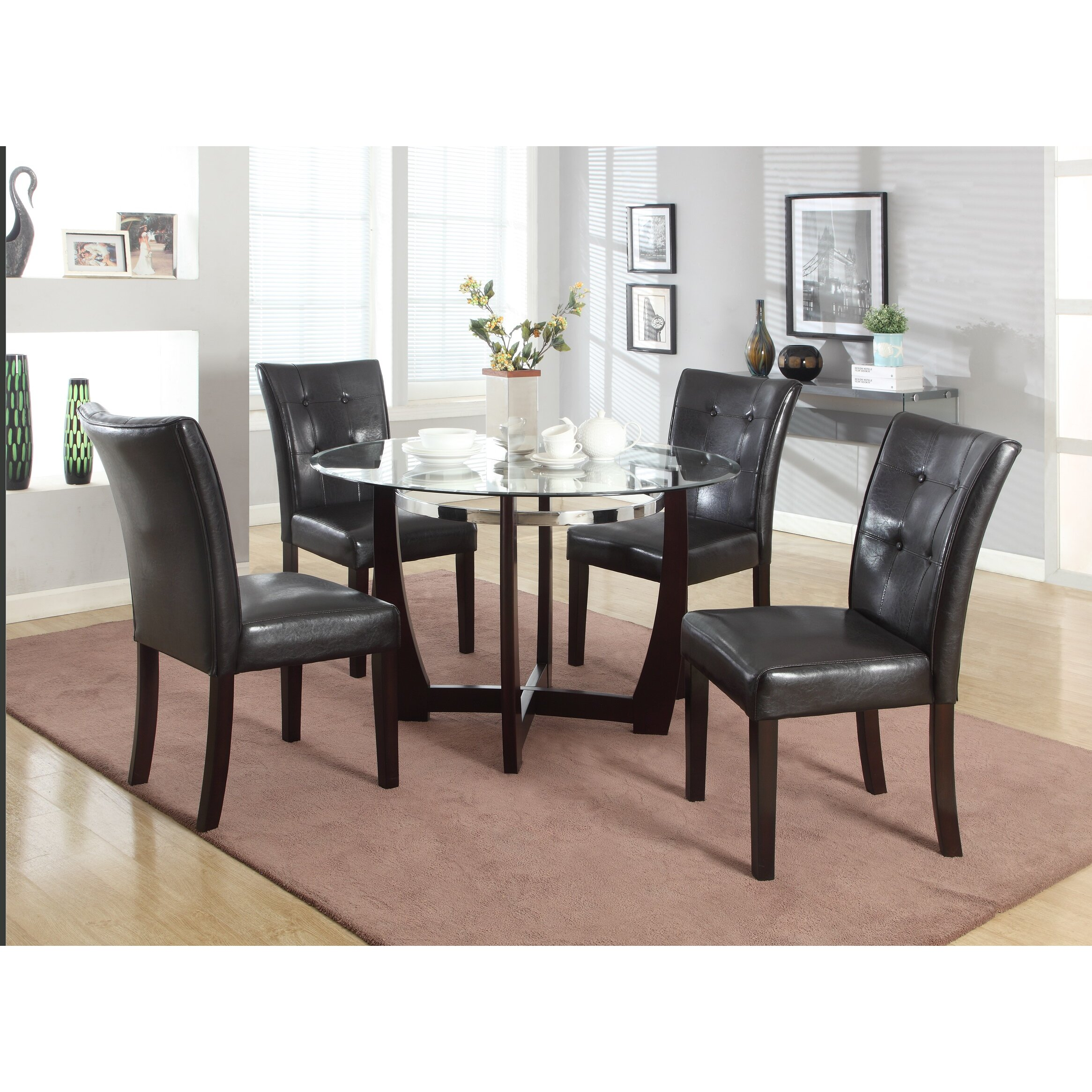 Roundhill Furniture Wesley 5 Piece Dining Set & Reviews