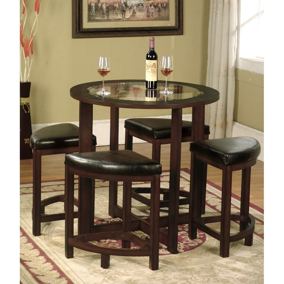 Roundhill furniture cylina 5 piece dining set reviews for 5 piece dining set