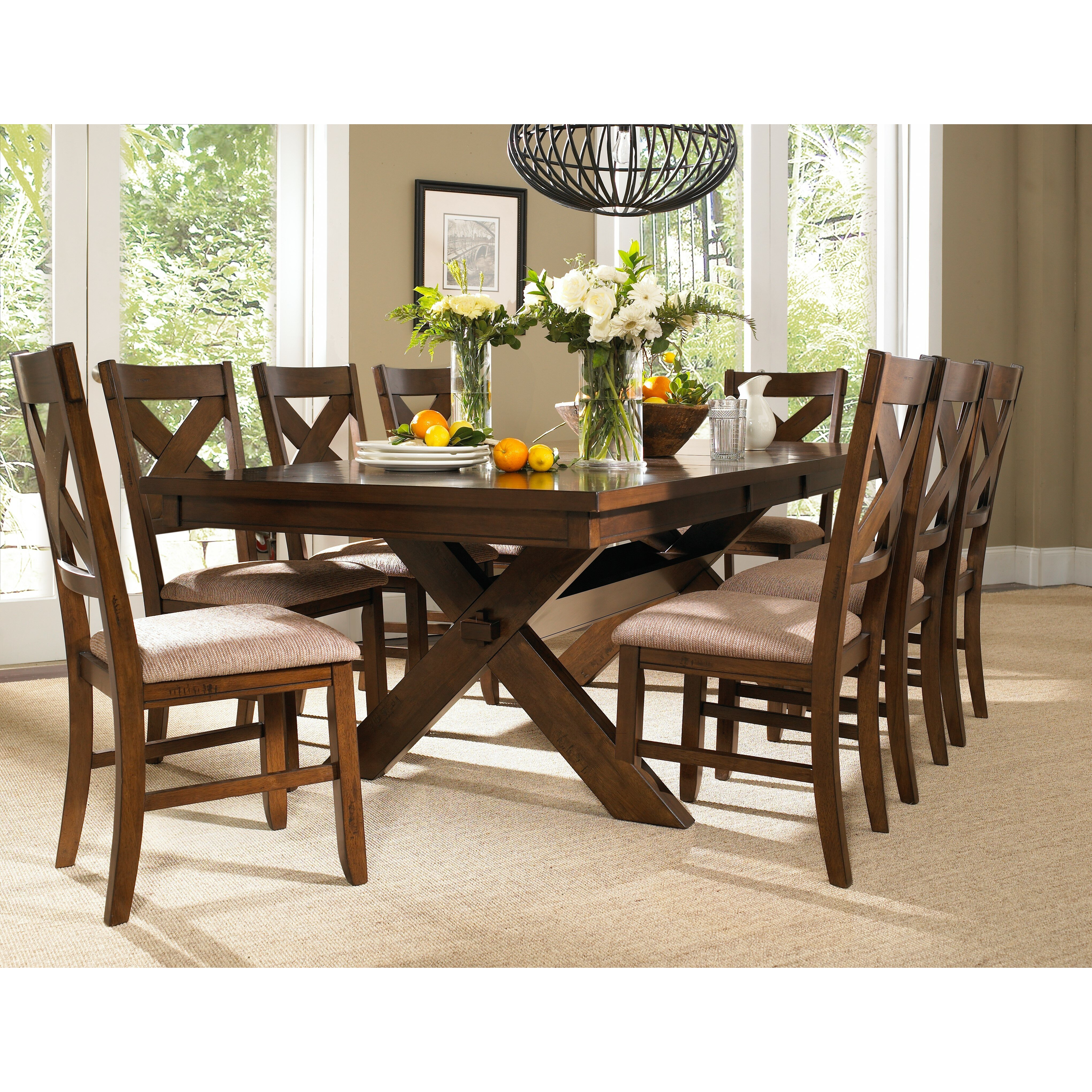 Roundhill furniture karven 9 piece dining set reviews for 9 piece dining room sets square