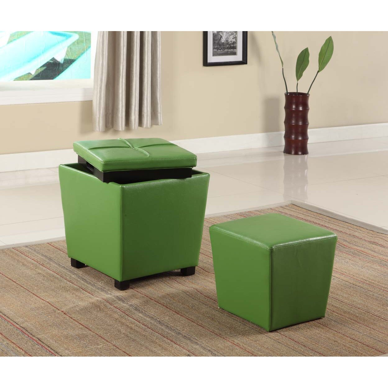 Roundhill Furniture 2 in 1 Storage Ottoman & Reviews