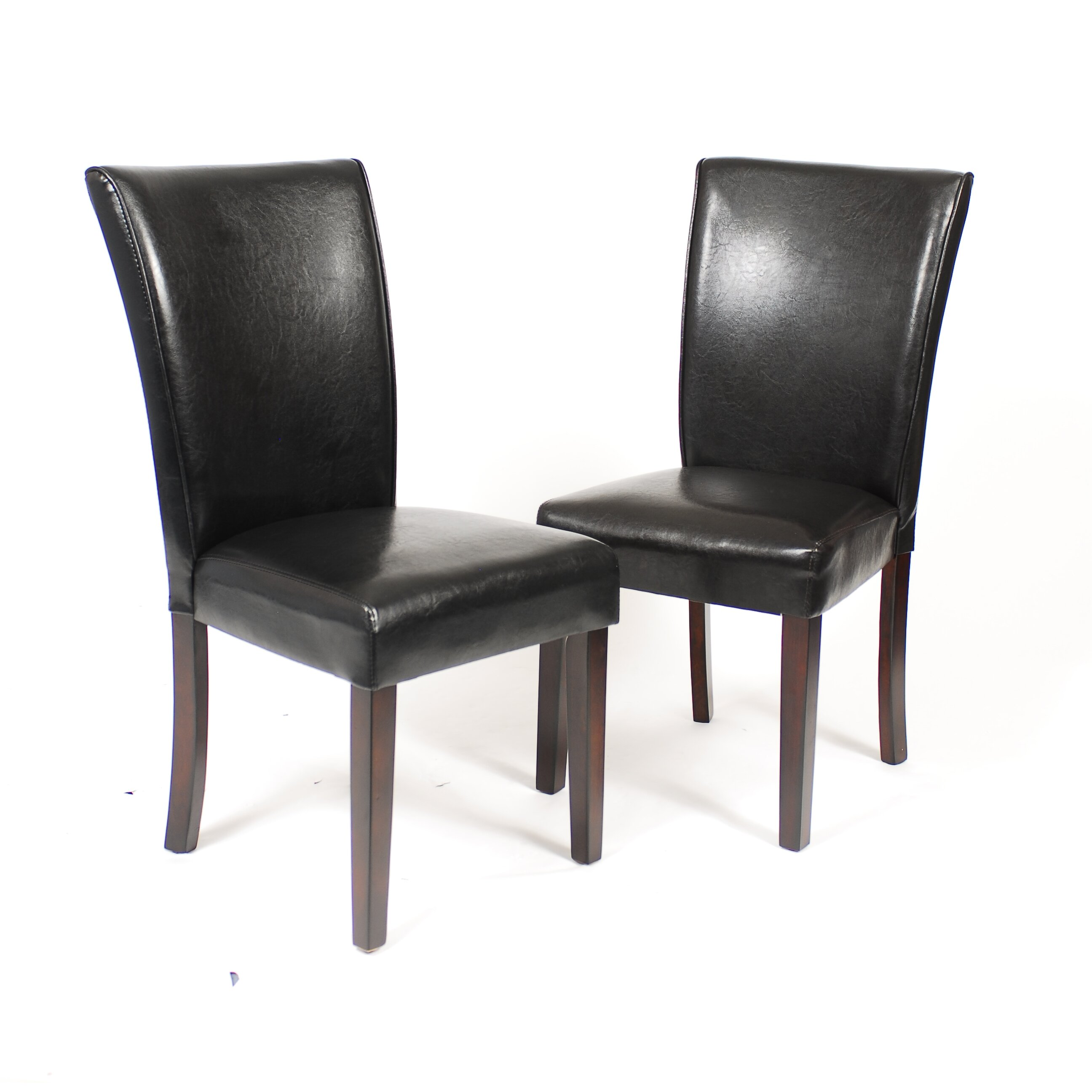 Black Leatherette Dining Room Chair