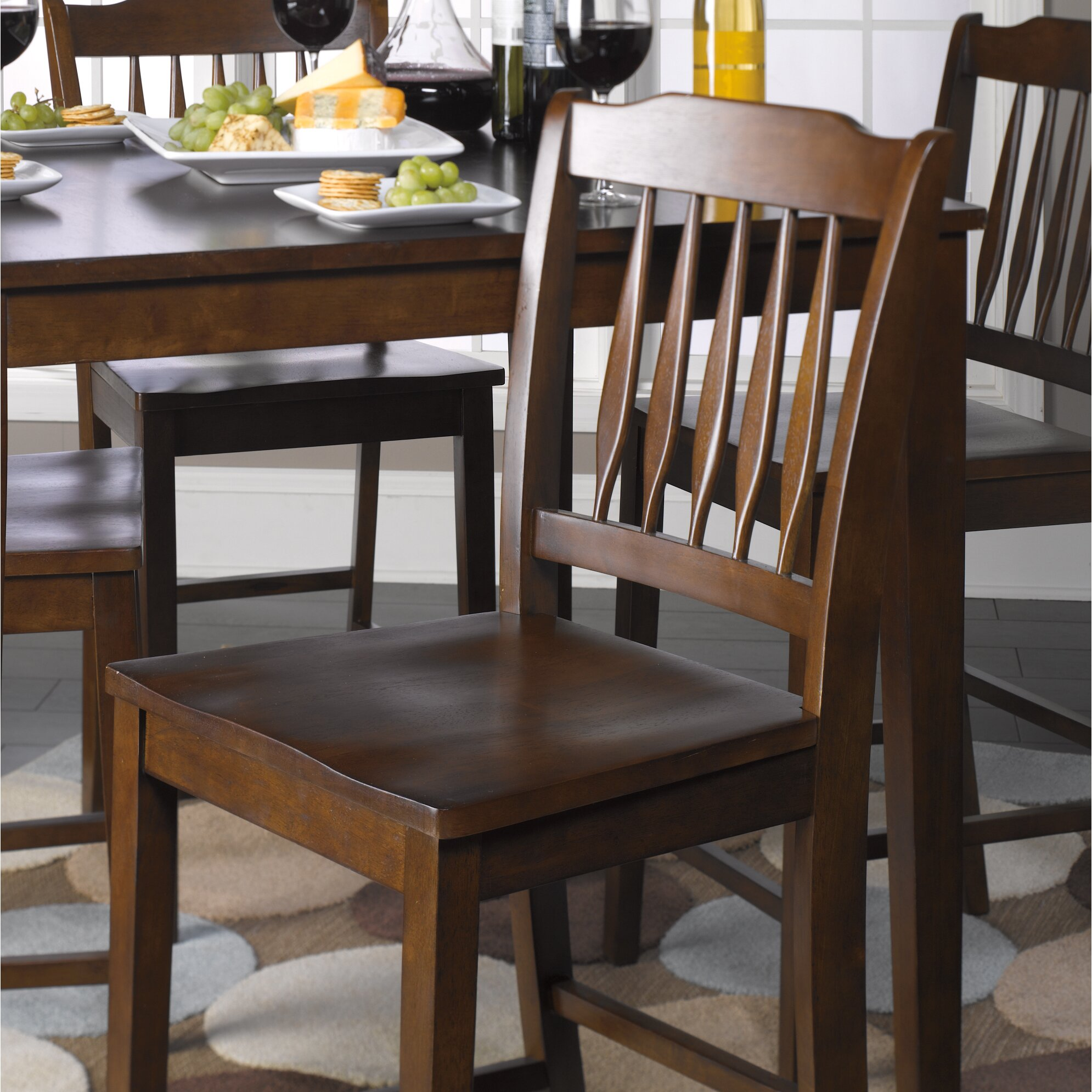 Roundhill Furniture 3 Piece Counter Height Pub Table Set: Roundhill Furniture 5 Piece Counter Height Dining Set