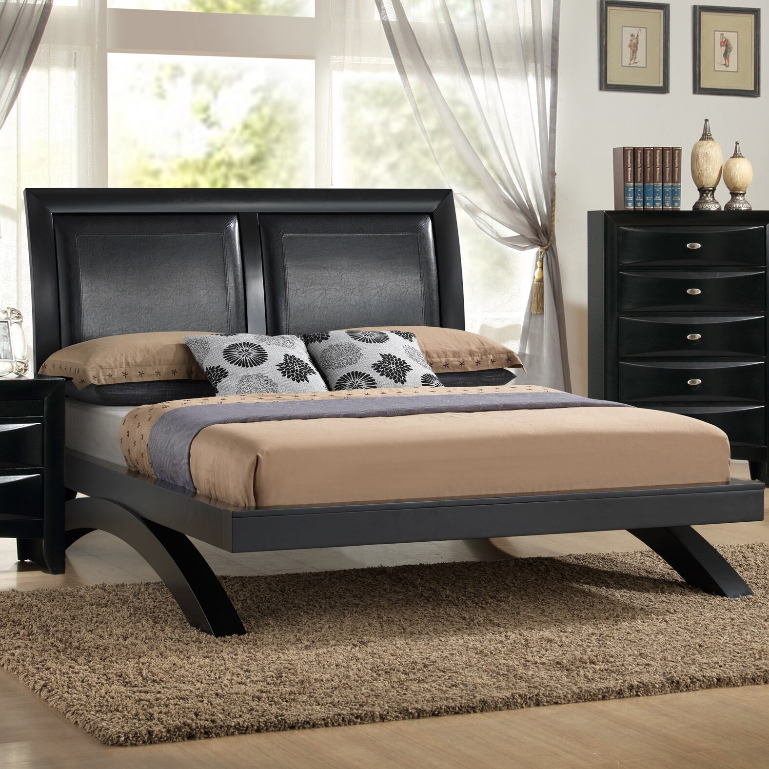 Roundhill Furniture Blemerey 6 Piece Platform Bedroom Set